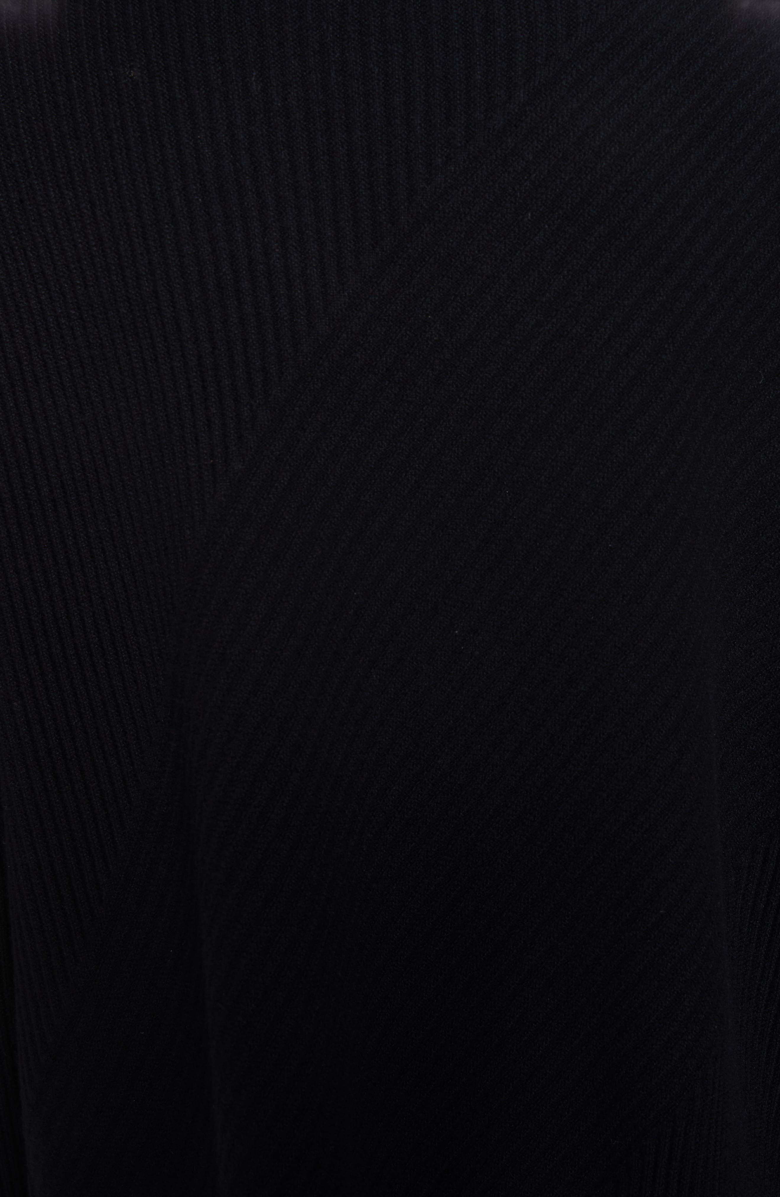 Cashmere Turtleneck Top,                             Alternate thumbnail 5, color,                             BLACK
