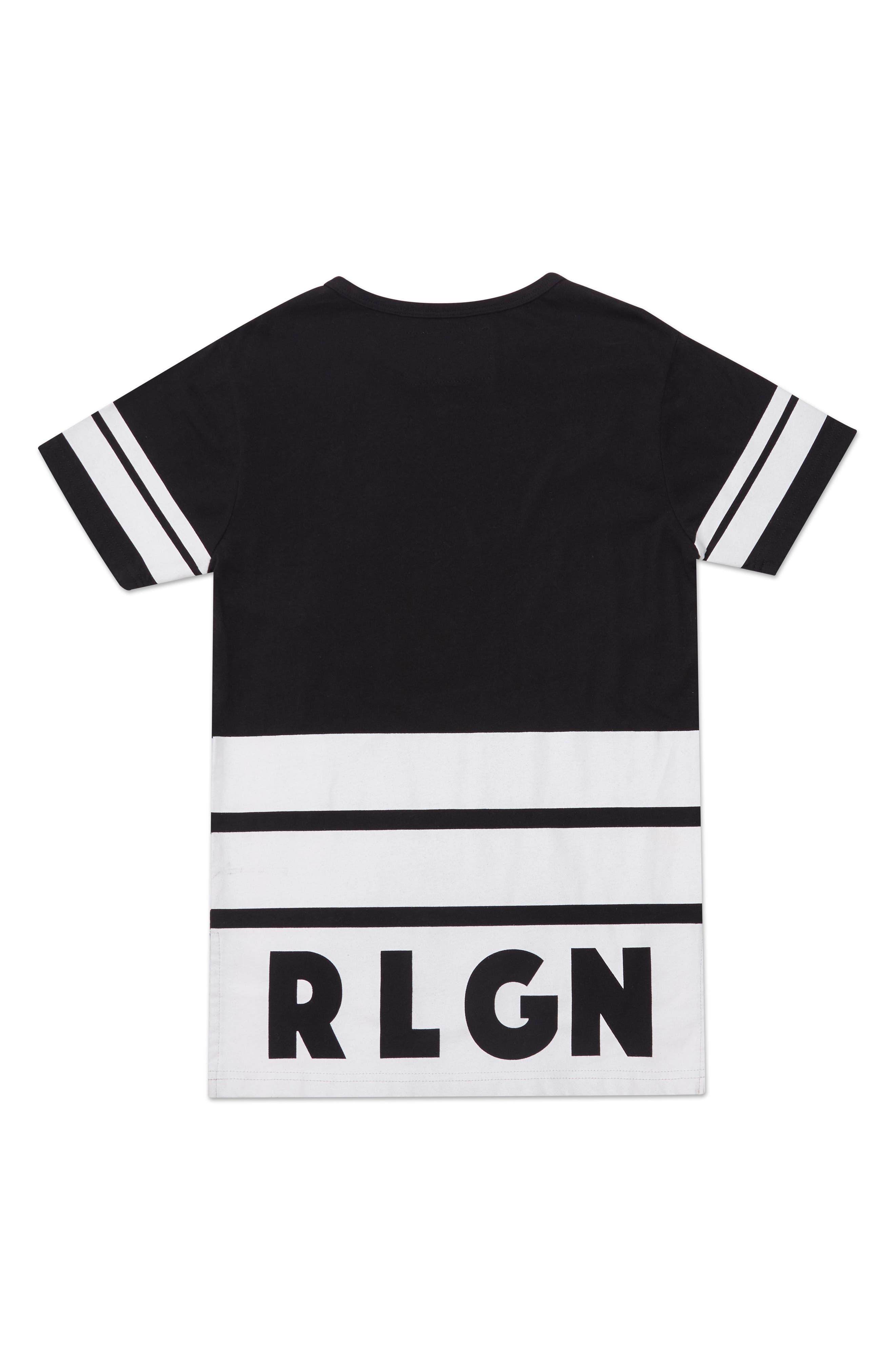 Longline Logo T-Shirt,                             Alternate thumbnail 2, color,                             001