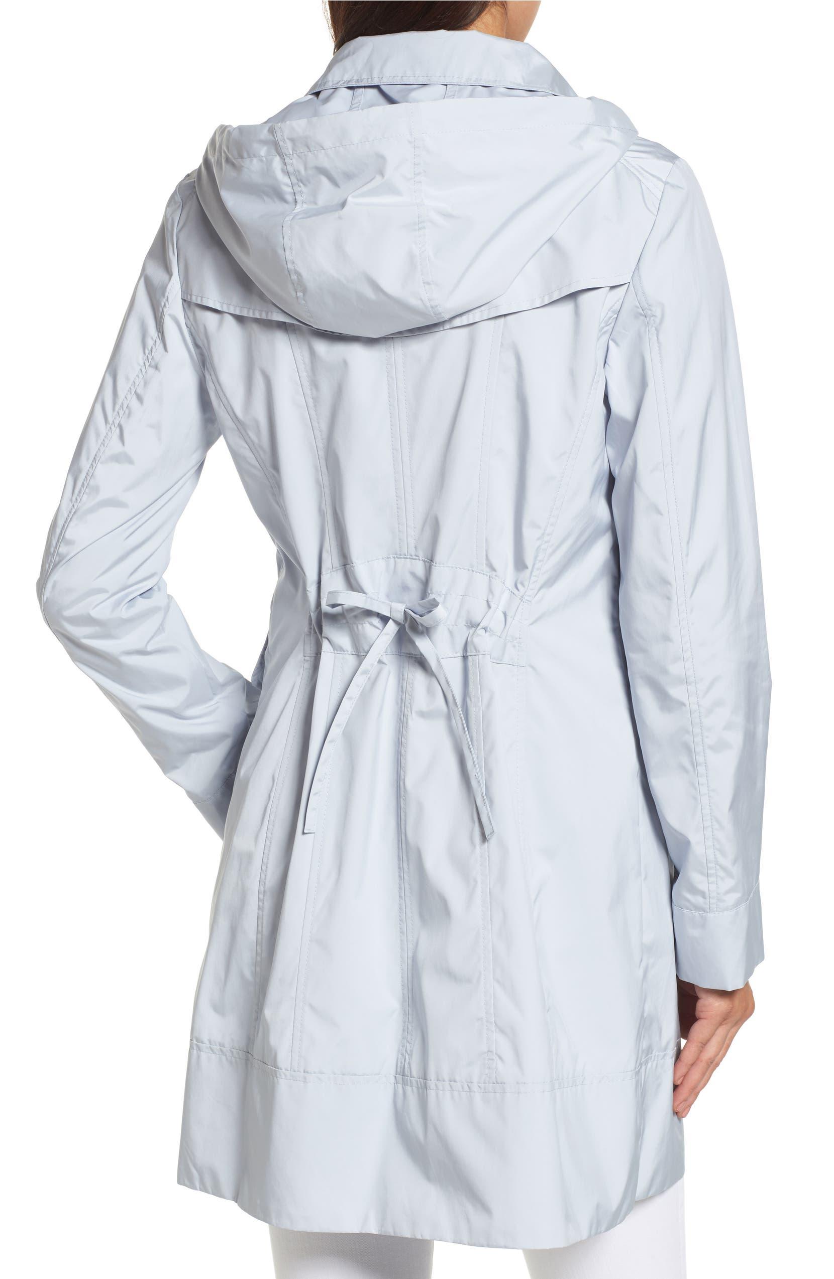 Cole Haan Signature Back Bow Packable Hooded Raincoat (Regular   Petite)  b76926823