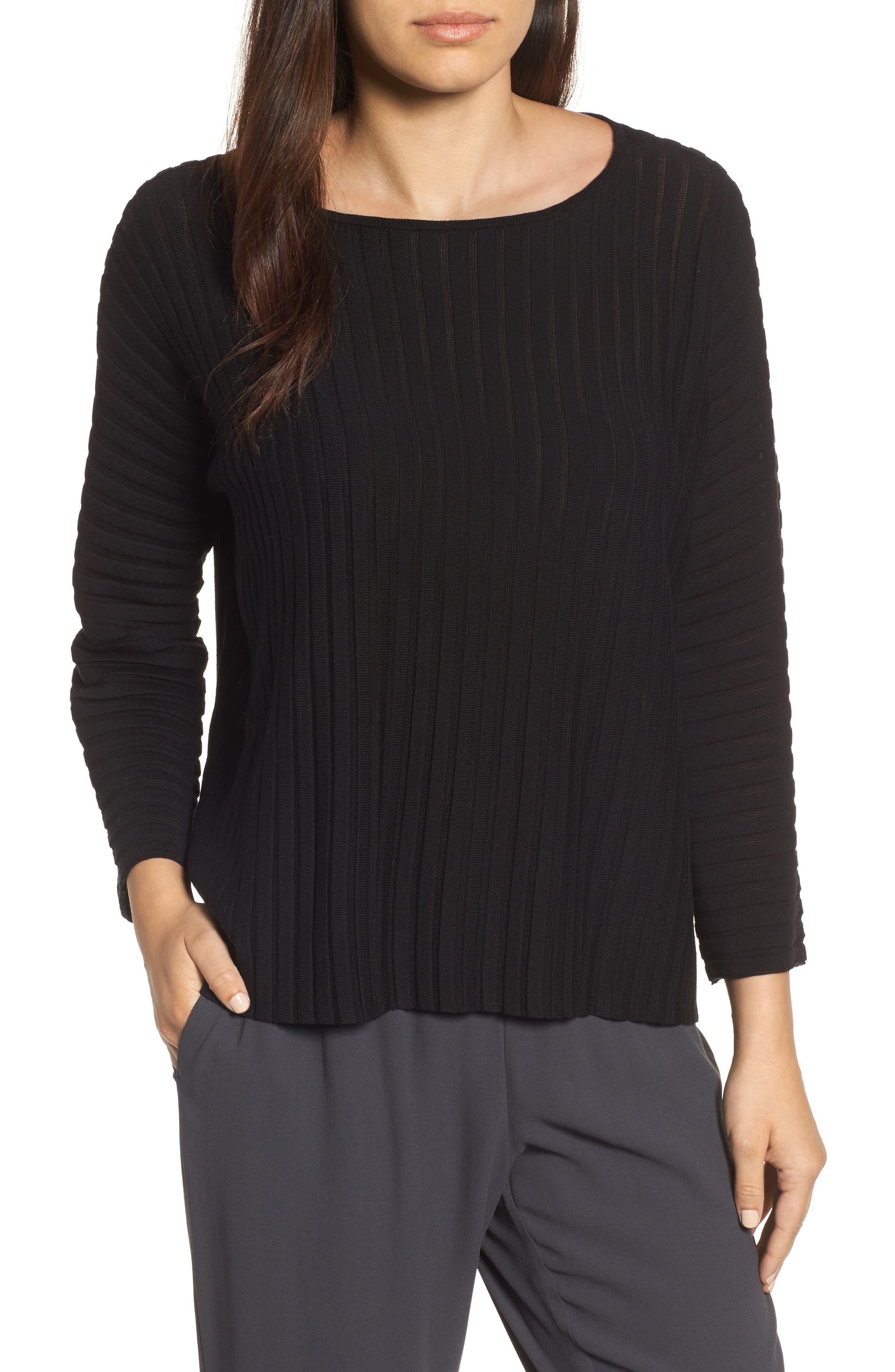 Ribbed Bateau Neck Sweater,                         Main,                         color,