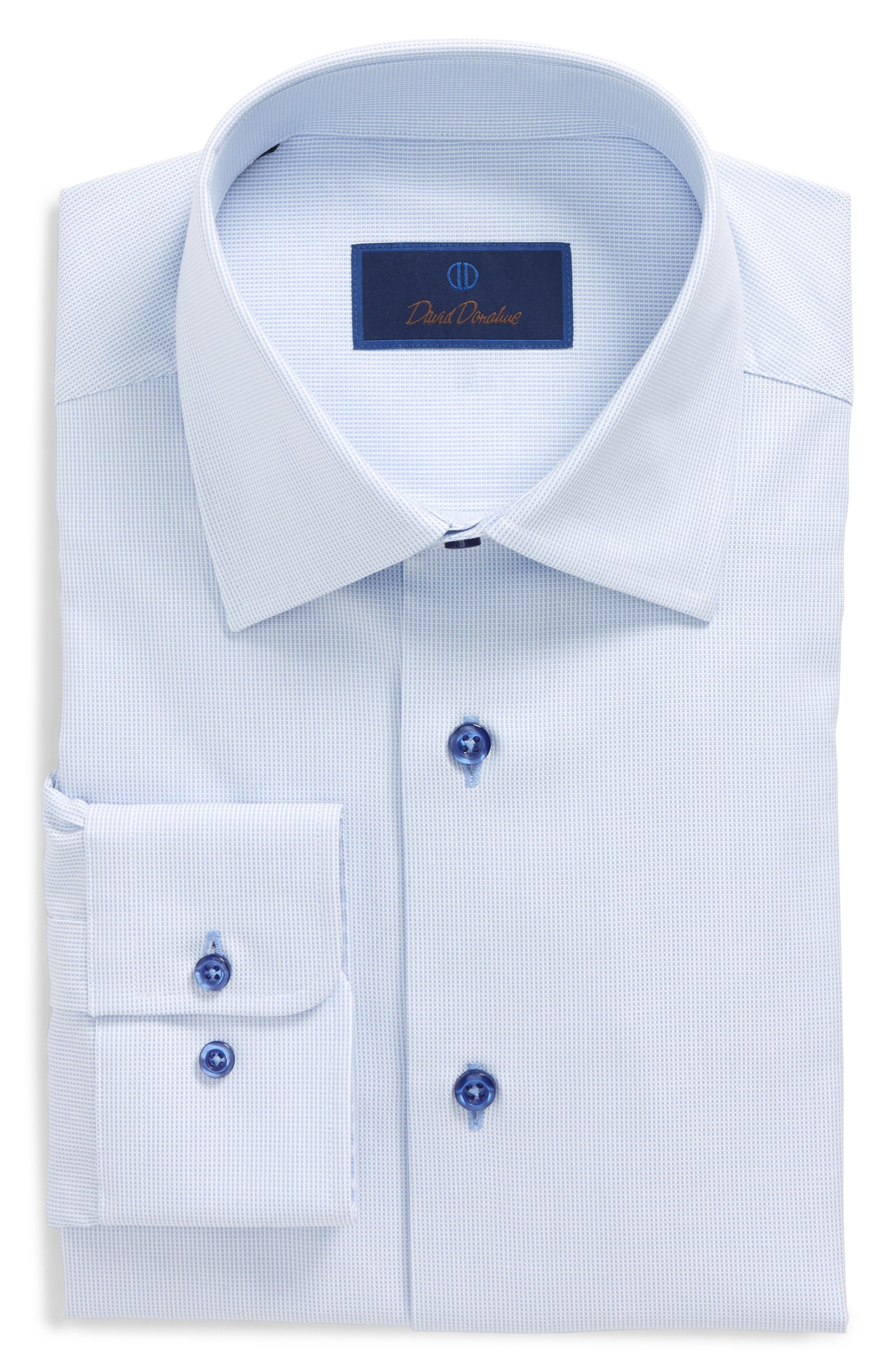 Regular Fit Solid Dress Shirt,                             Main thumbnail 1, color,                             423