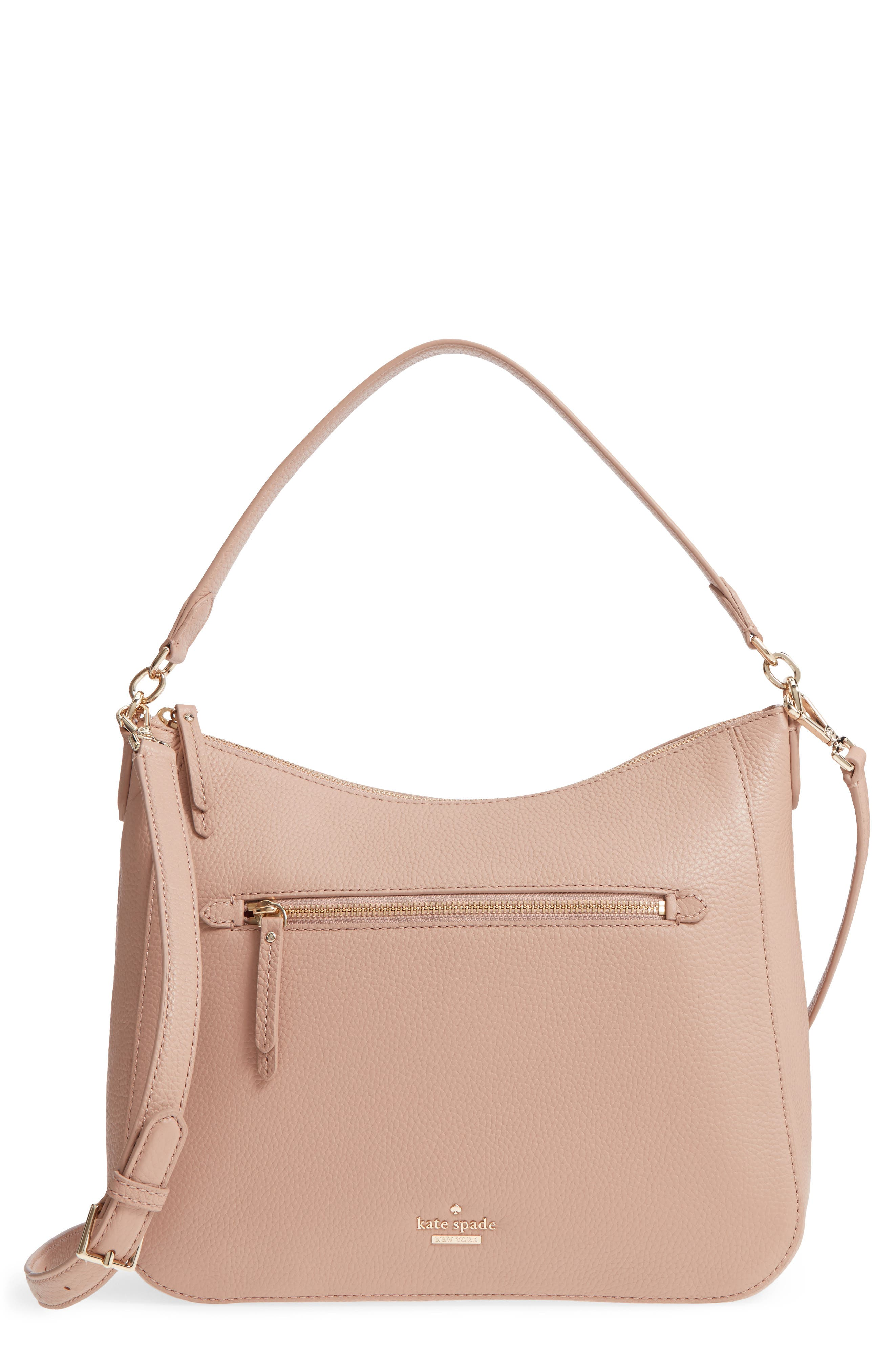 trent hill - quincy leather hobo,                             Main thumbnail 2, color,