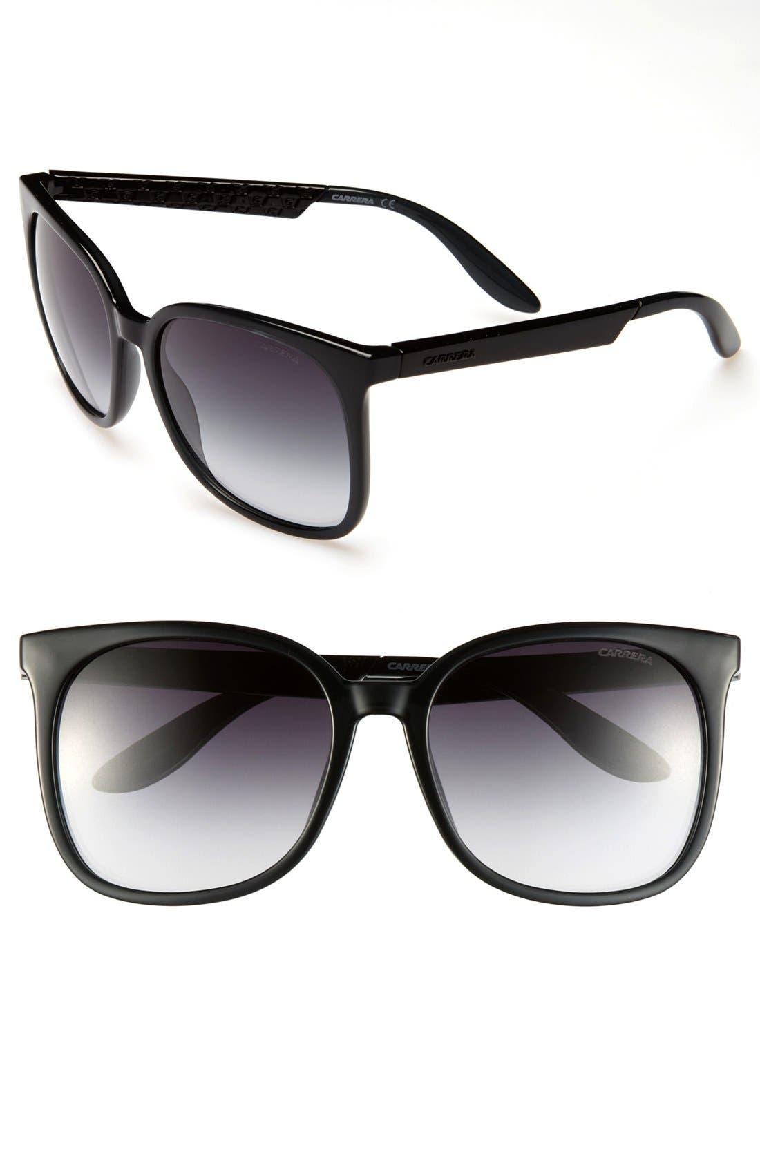 CARRERA EYEWEAR 57mm Sunglasses, Main, color, 020
