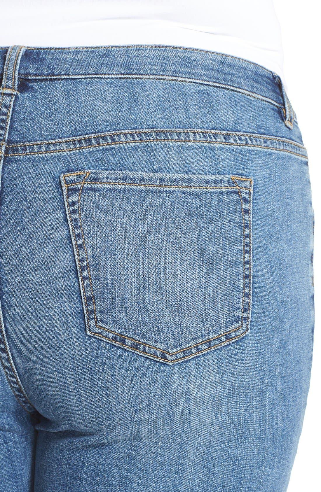 Wide Leg Crop Jeans,                             Alternate thumbnail 10, color,