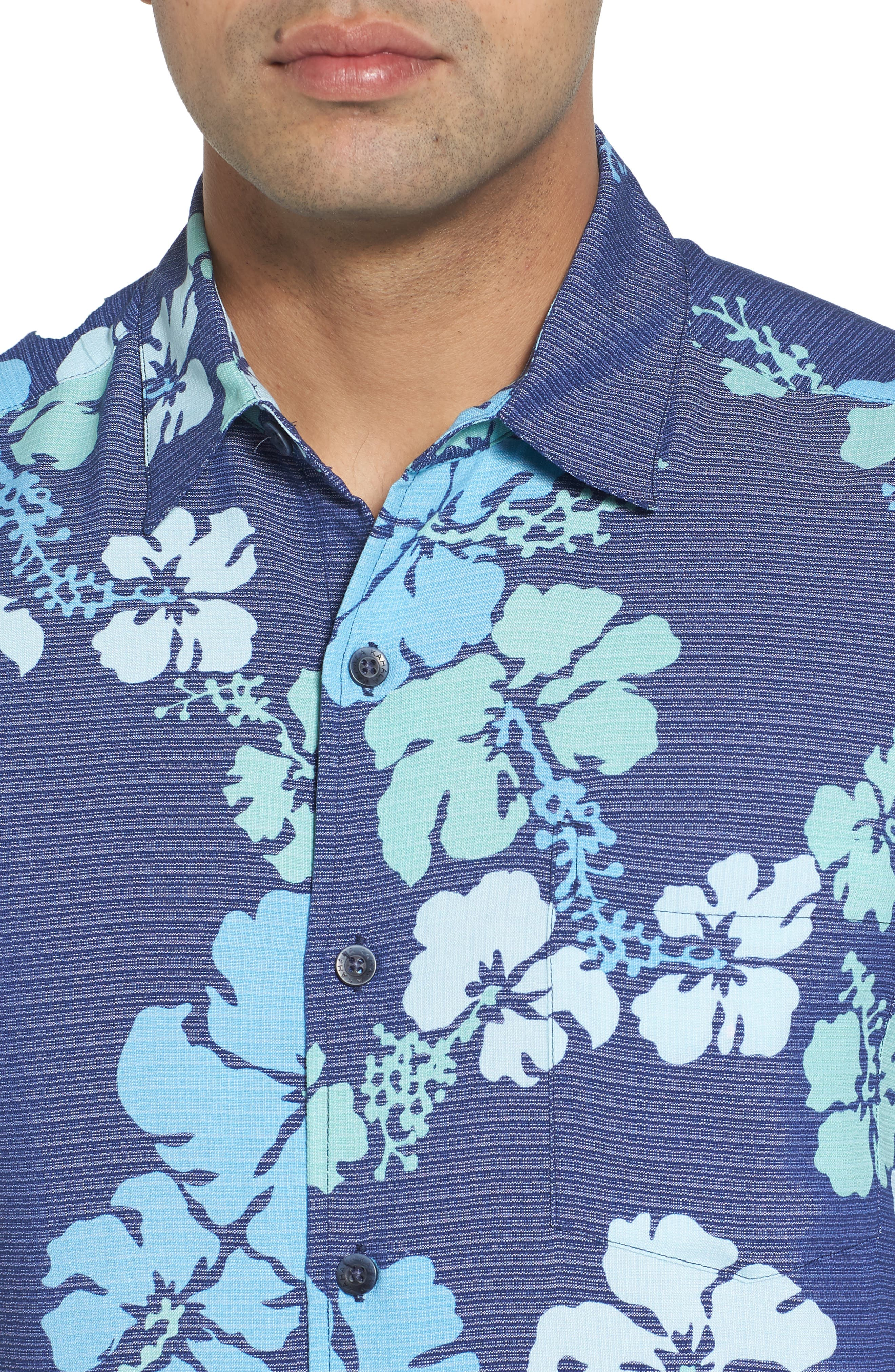 Lei Day Standard Fit Camp Shirt,                             Alternate thumbnail 4, color,                             415