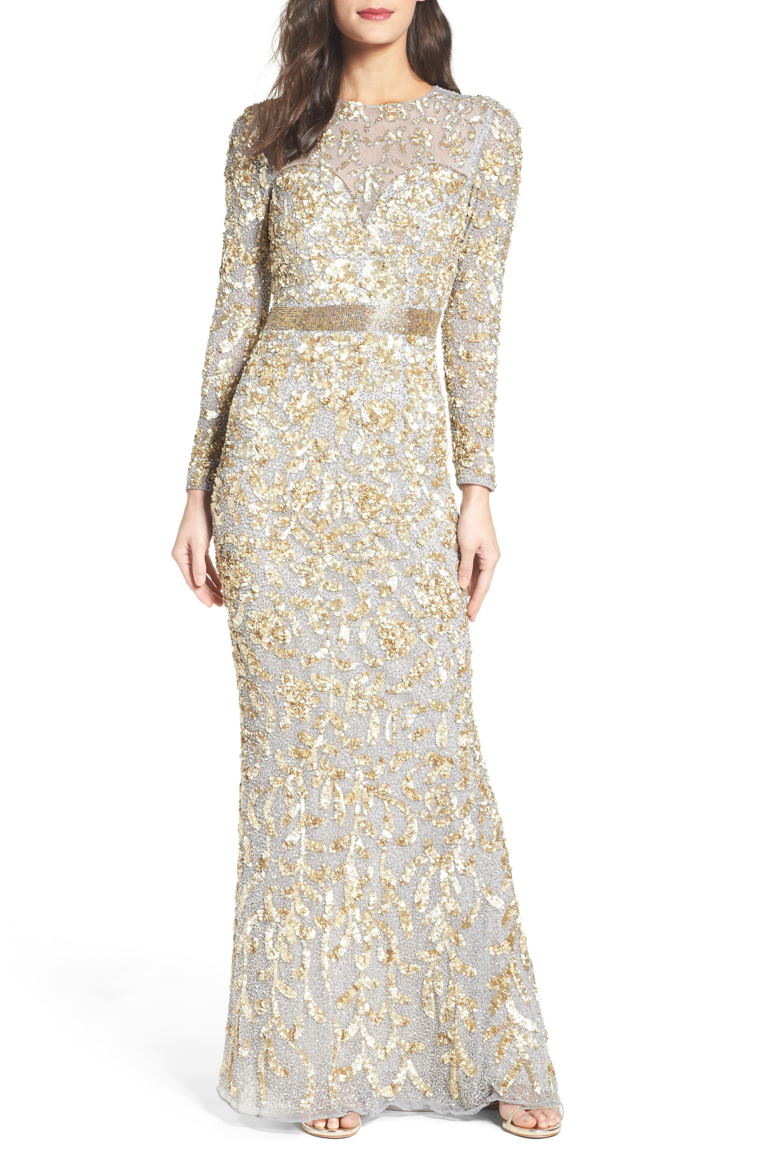Beaded Gown,                             Main thumbnail 2, color,