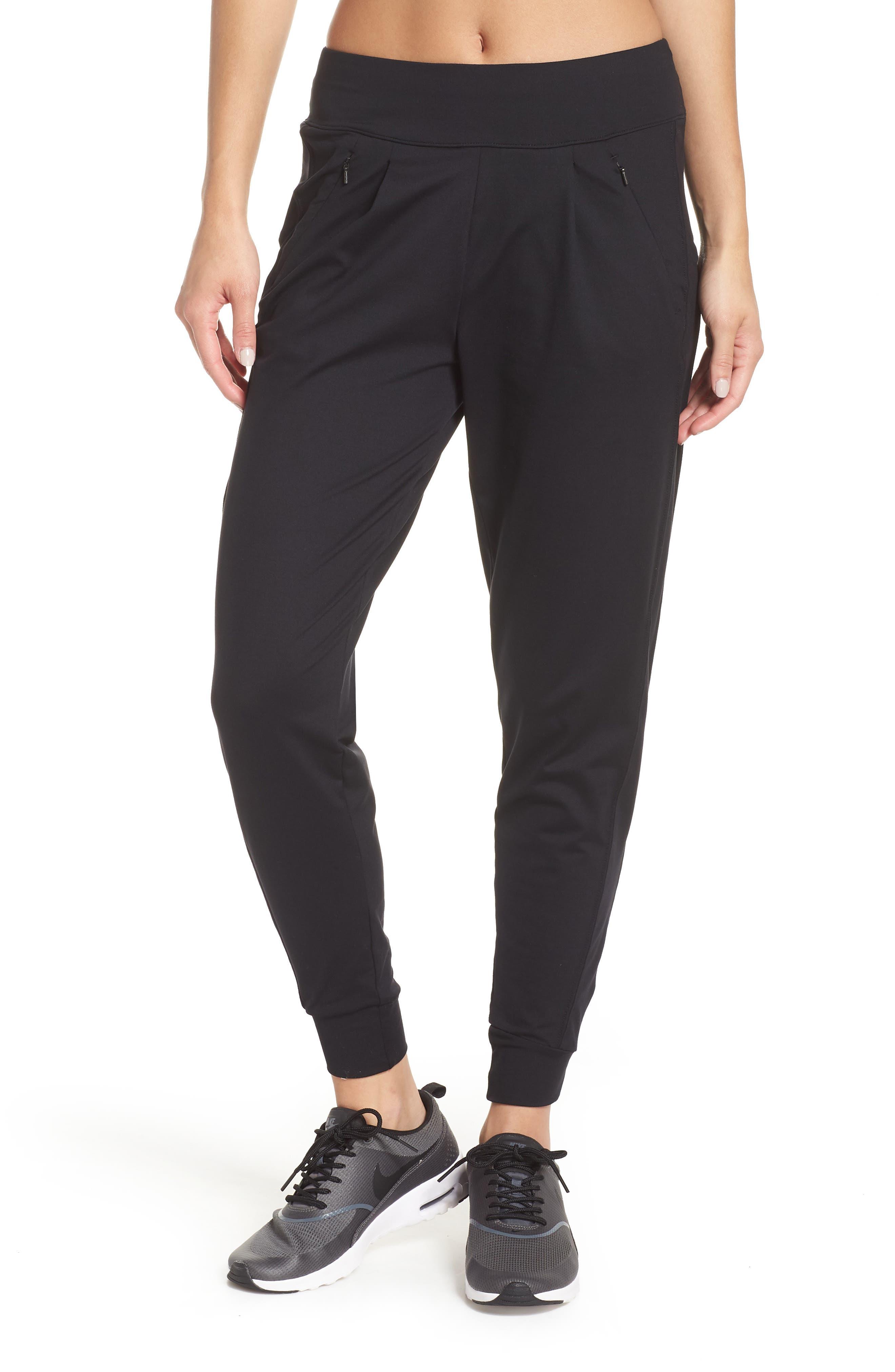 Taylor Slim Recycled Knit Jogger Pants,                             Main thumbnail 1, color,                             BLACK