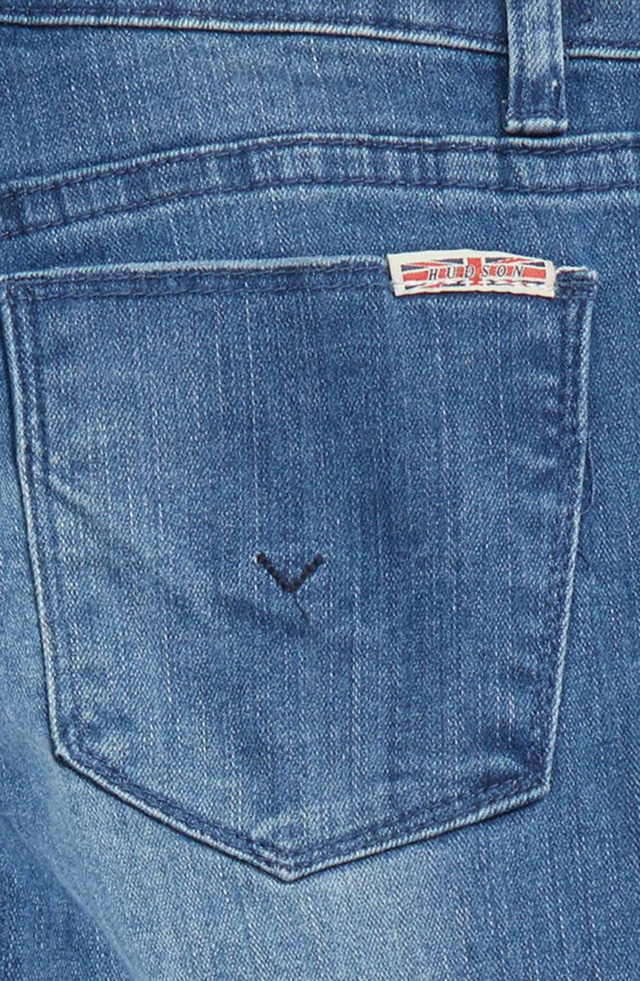 Etta Lace Up Ankle Crop Jeans,                             Alternate thumbnail 3, color,                             483