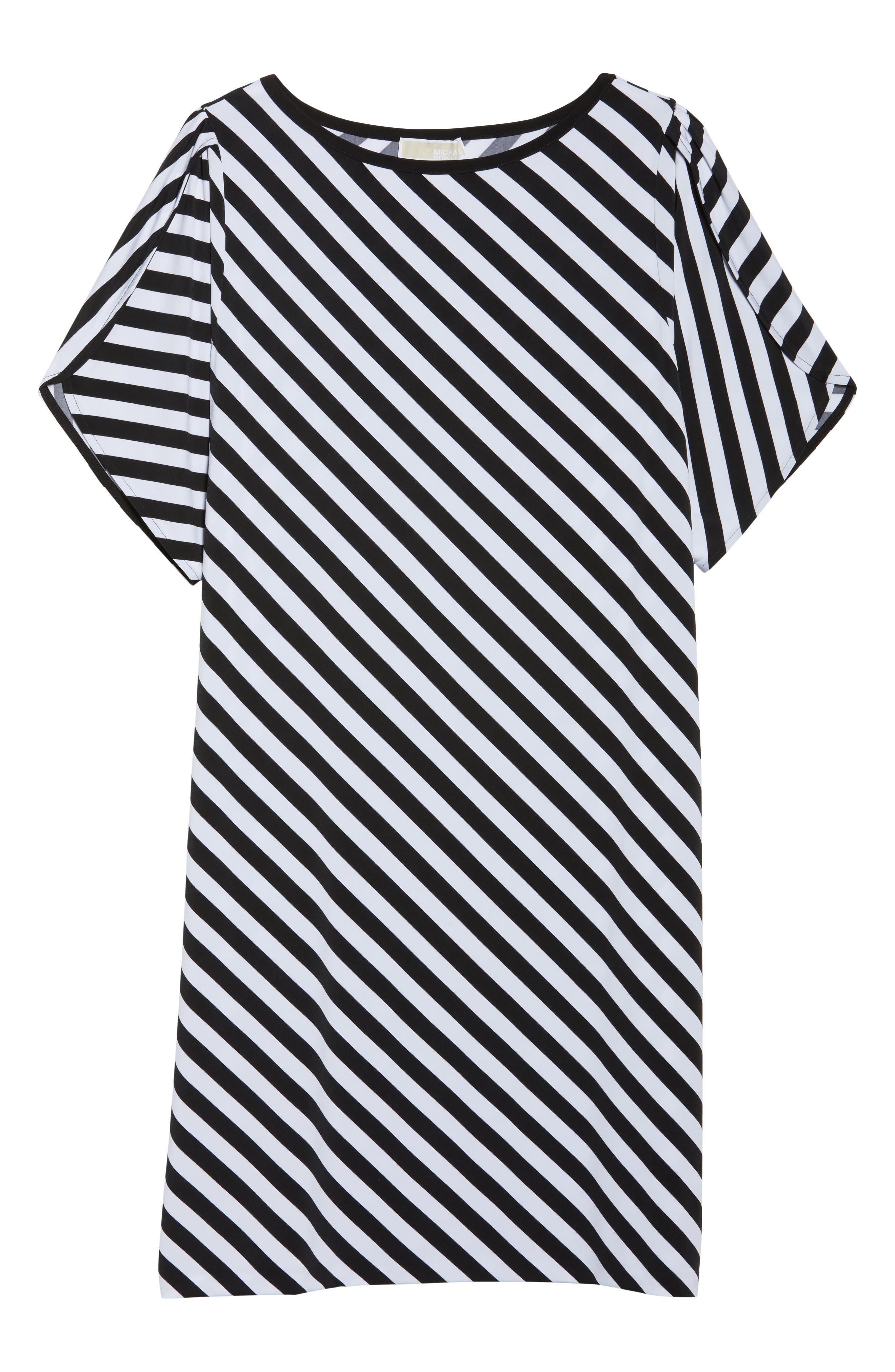 Tulip Sleeve Stripe Dress,                             Alternate thumbnail 6, color,
