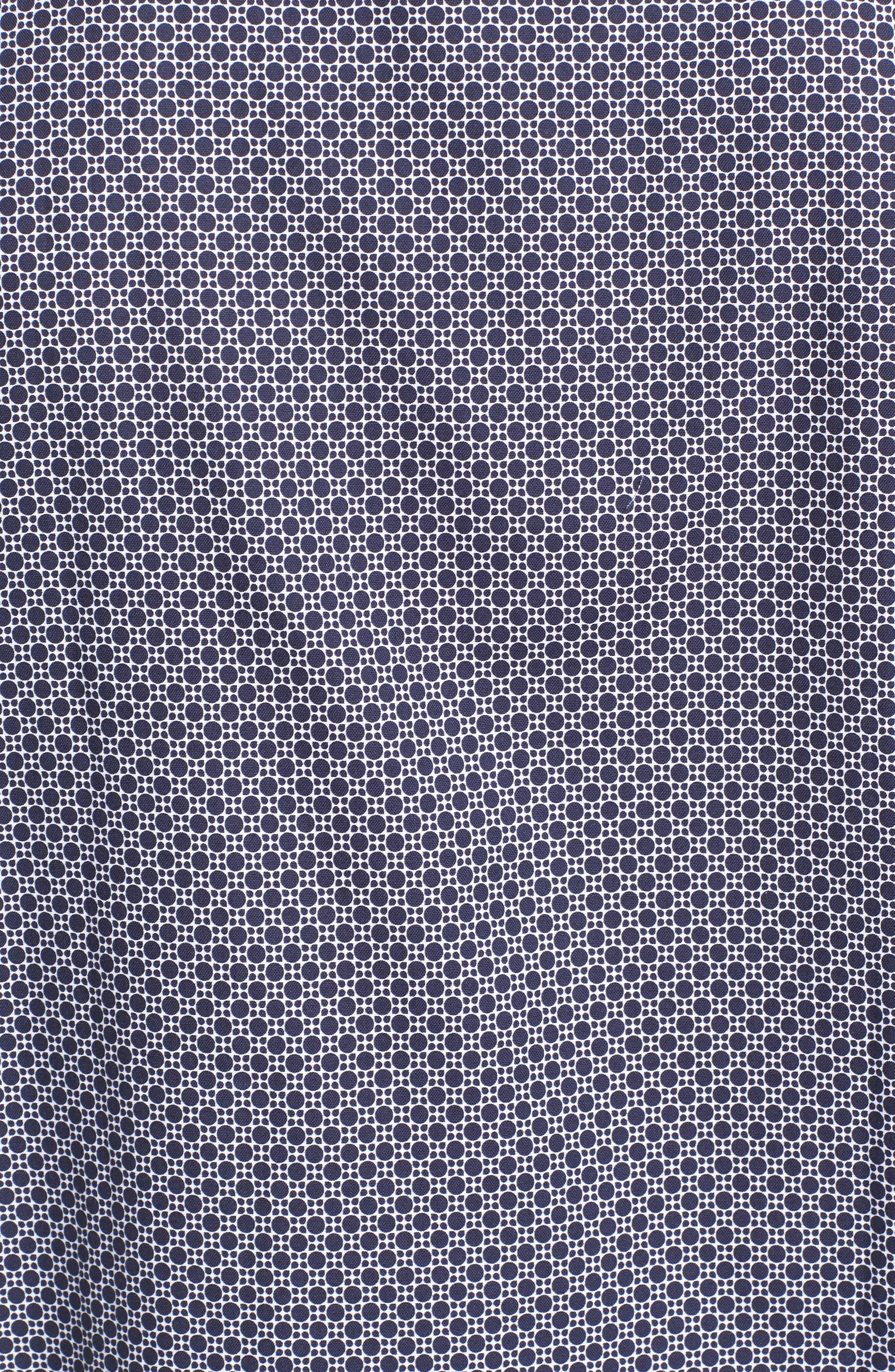 Classic Fit Dot Print Sport Shirt,                             Alternate thumbnail 5, color,