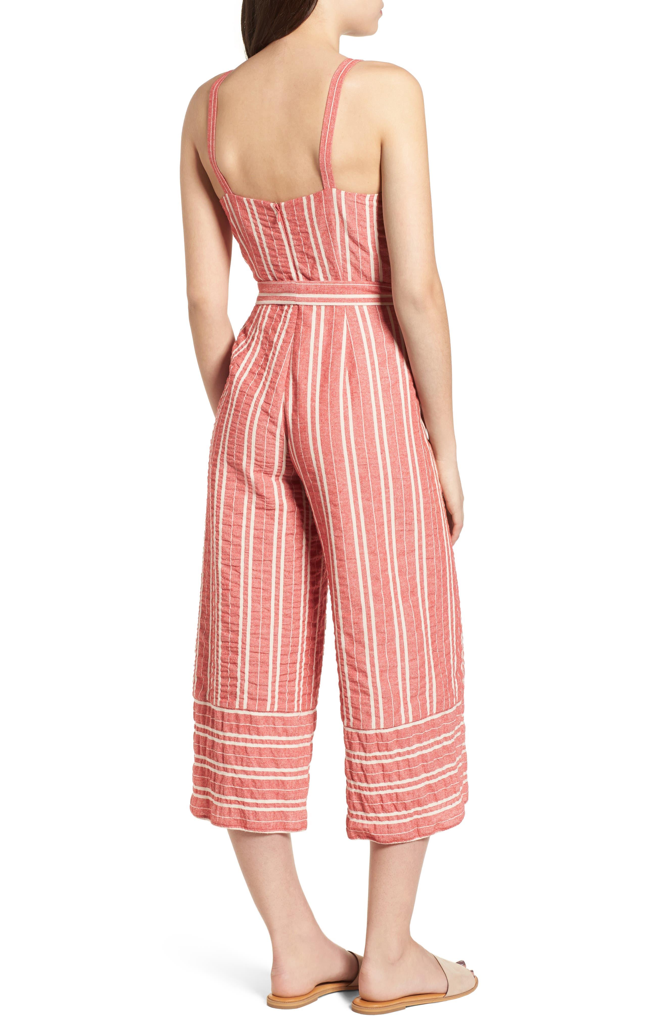 Robin Stripe Crop Jumpsuit,                             Alternate thumbnail 2, color,                             641