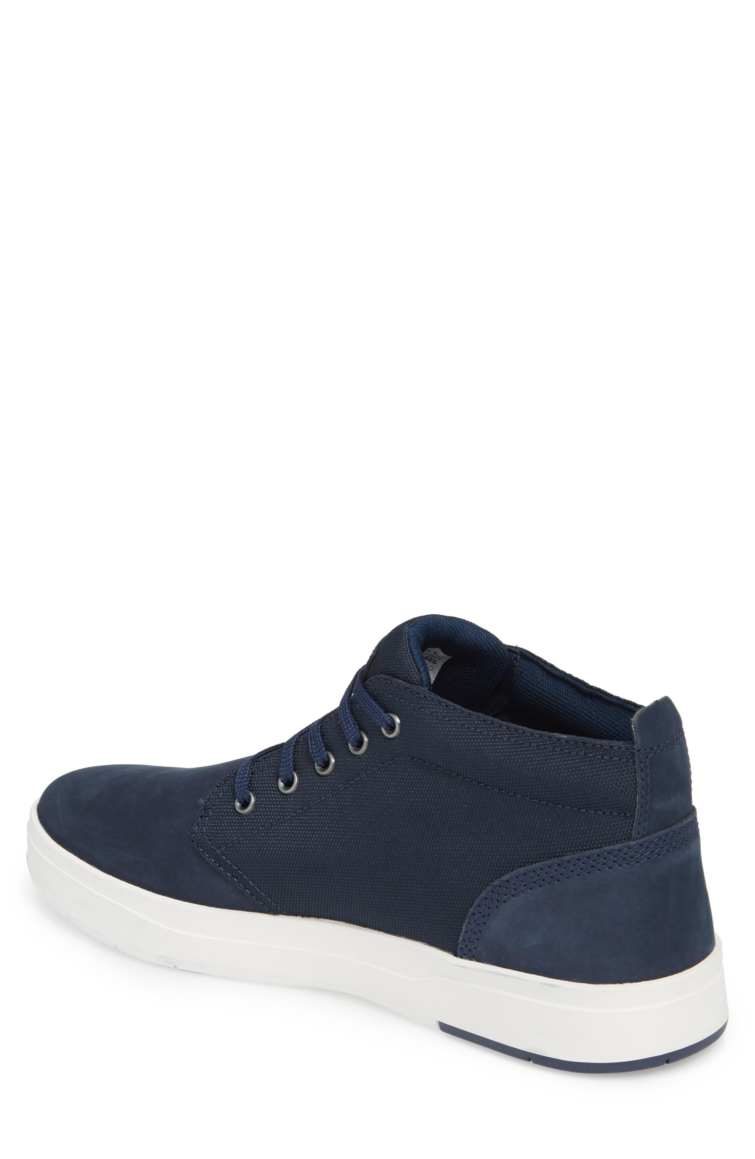 Davis Square Mid Top Sneaker,                             Alternate thumbnail 2, color,                             BLACK/ BLUE
