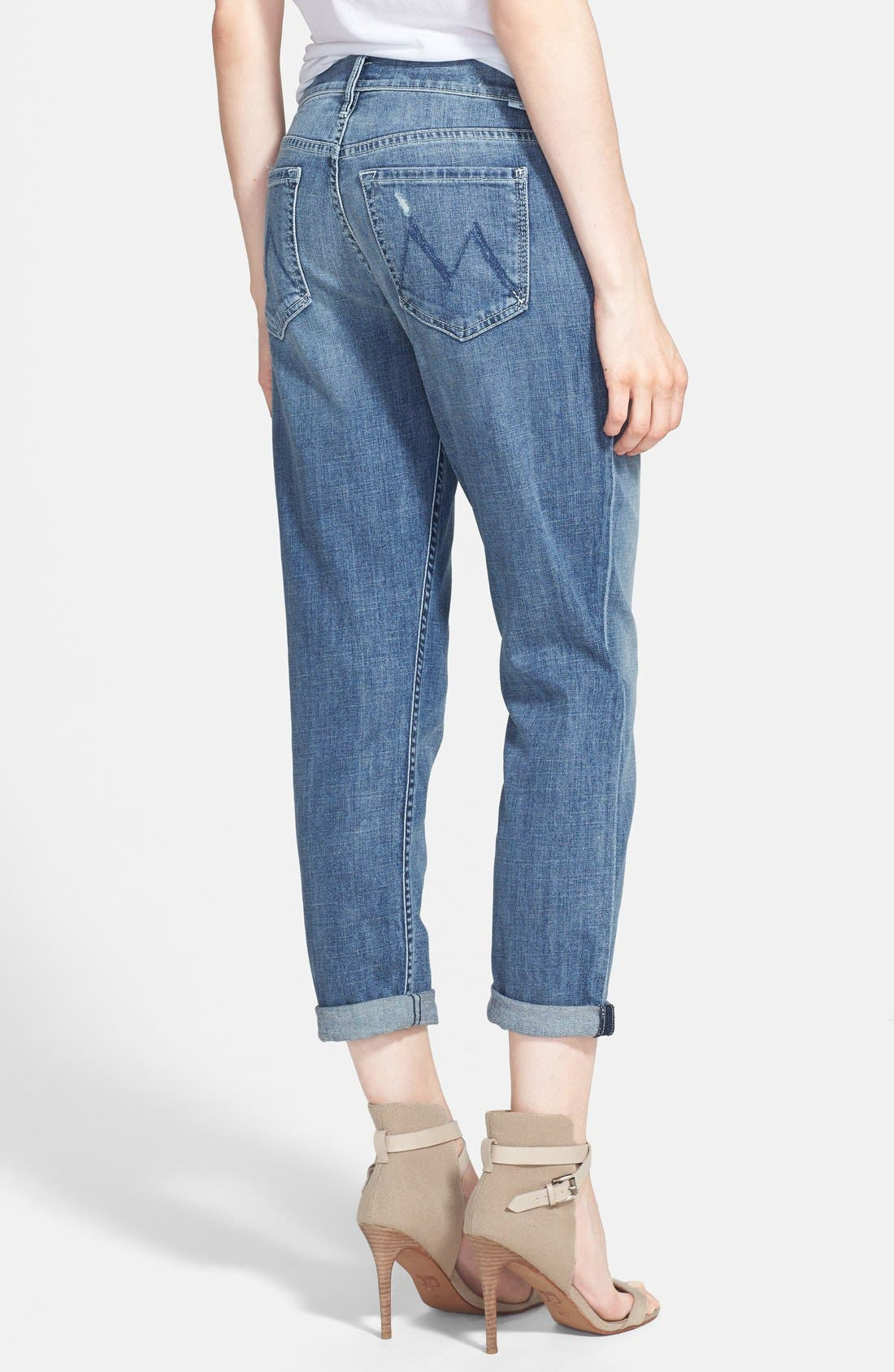 MOTHER,                             'The Dropout' Crop Boyfriend Jeans,                             Alternate thumbnail 2, color,                             400