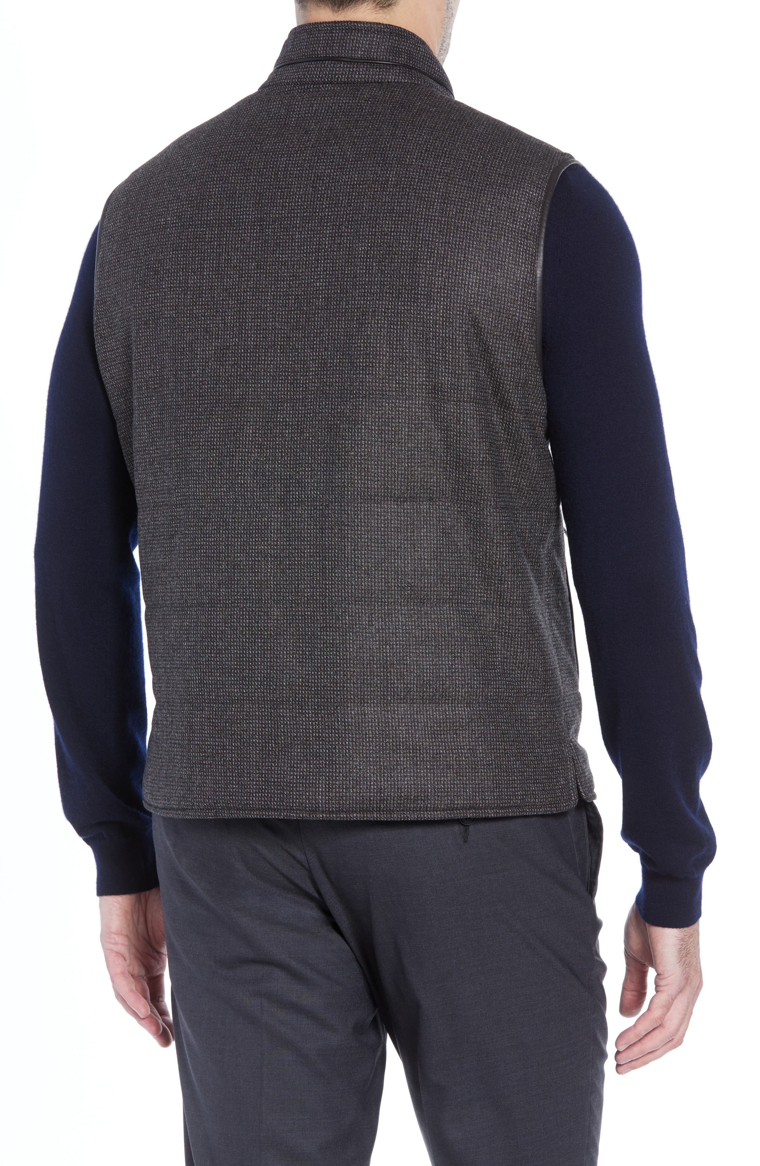 Classic Fit Reversible Vest,                             Alternate thumbnail 3, color,                             BROWN