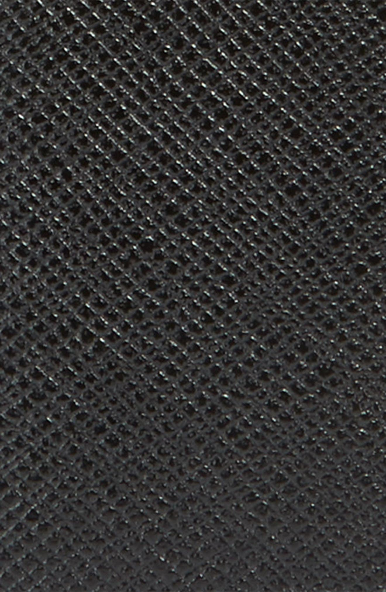 Saffiano Leather Belt,                             Alternate thumbnail 2, color,                             BLACK