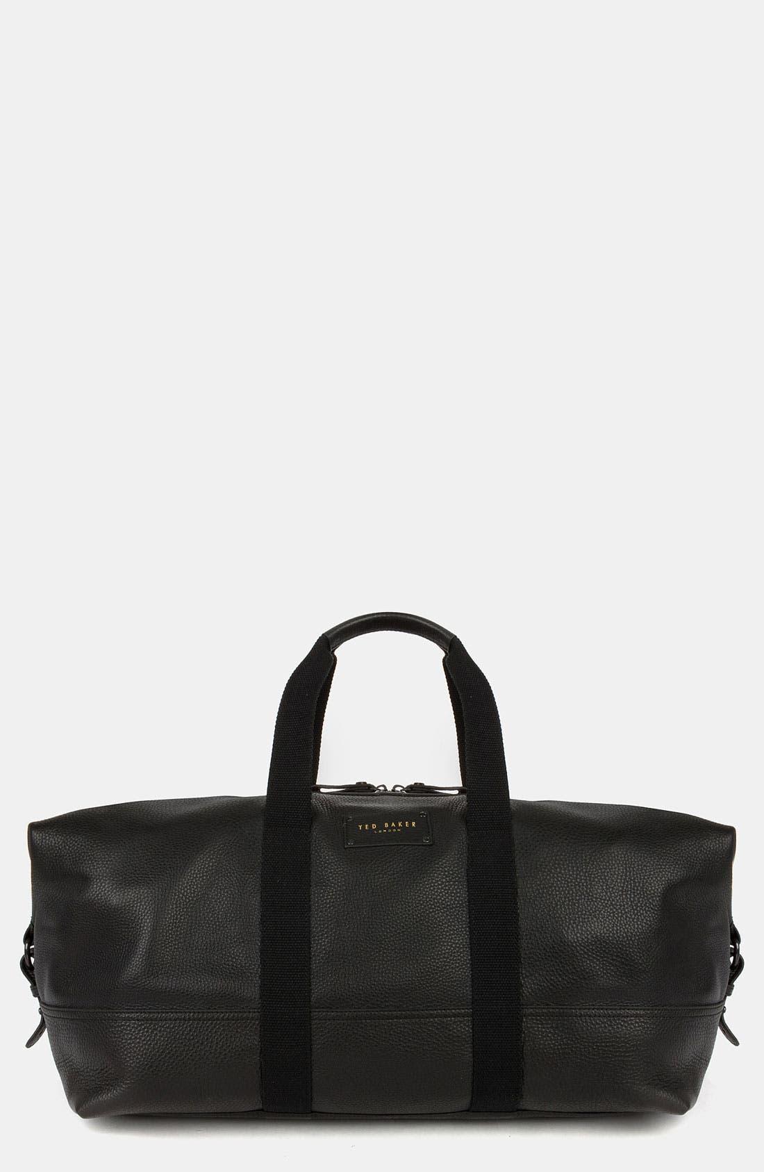 Leather Duffel Bag,                             Main thumbnail 1, color,