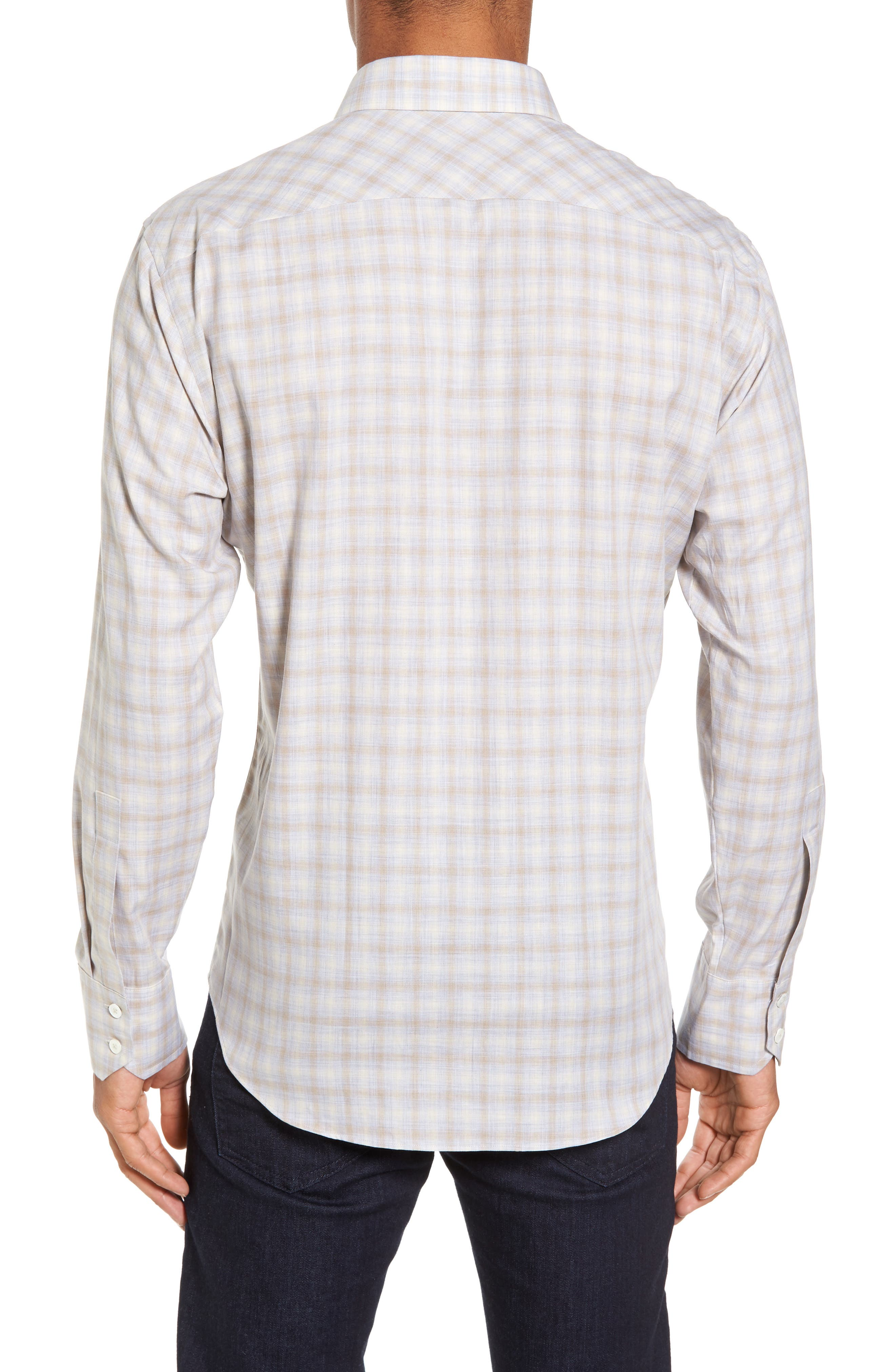 Lowles Slim Fit Plaid Sport Shirt,                             Alternate thumbnail 2, color,