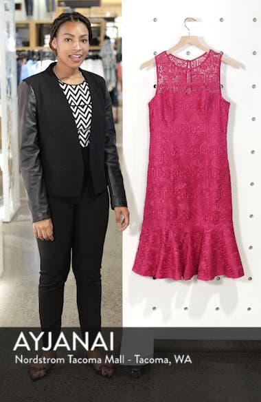 Sleeveless Lace Sheath Dress, sales video thumbnail
