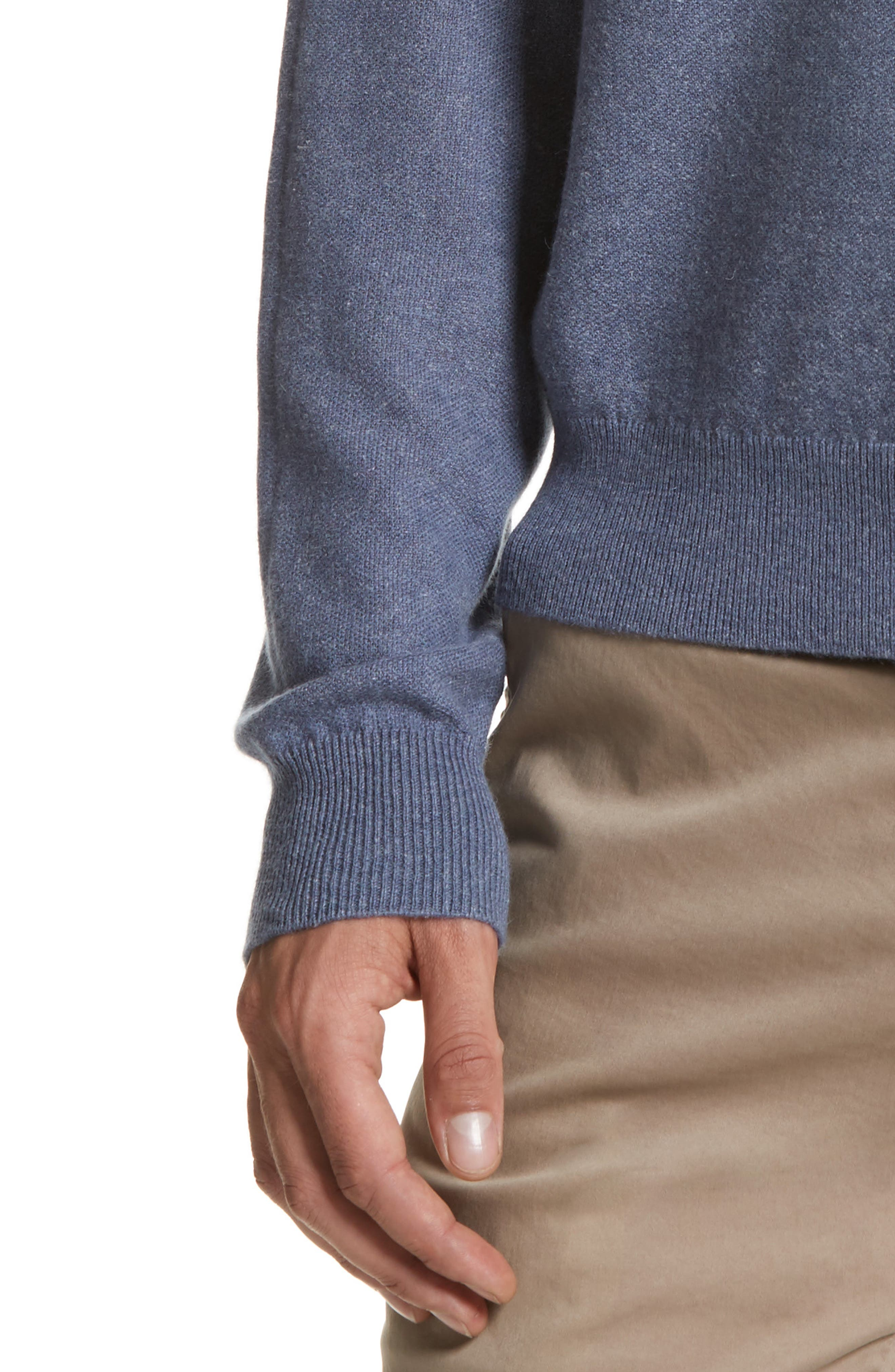 Cashmere & Linen Crewneck Sweater,                             Alternate thumbnail 4, color,                             475