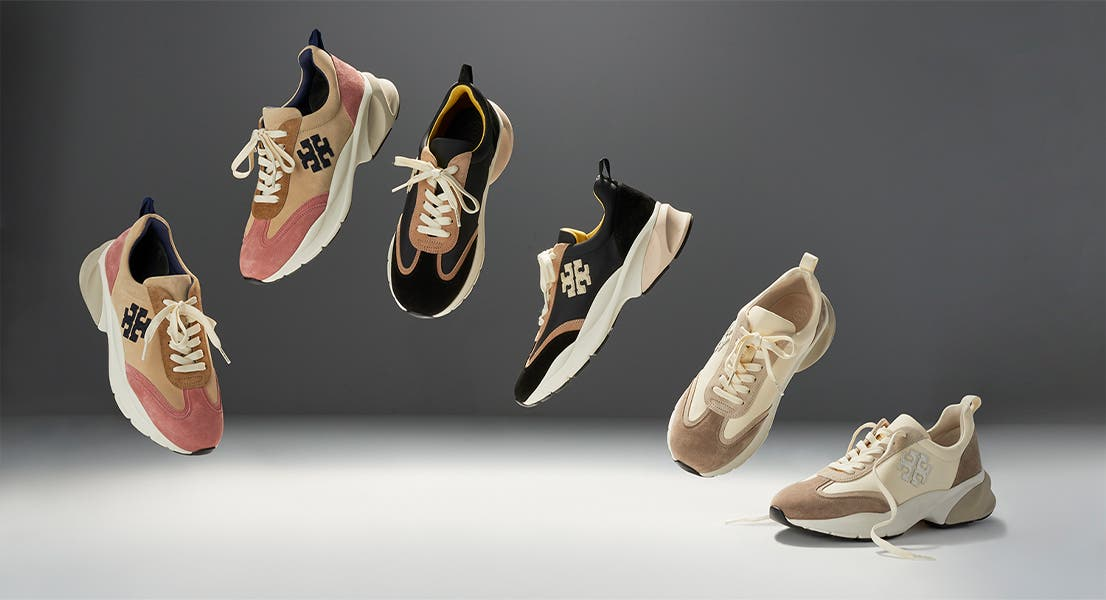 Tory Burch Good Luck trainers.