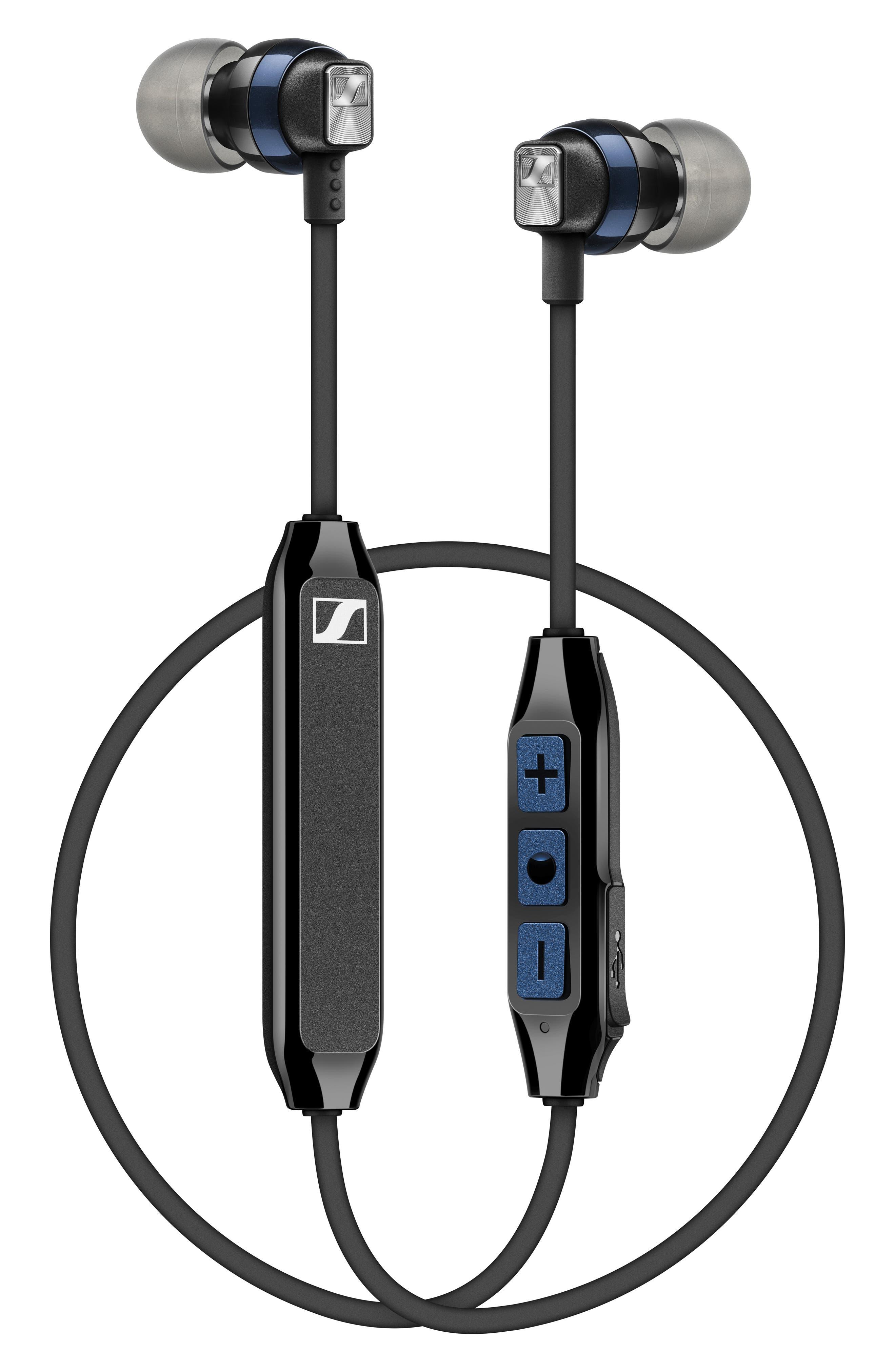 SENNHEISER,                             CX 6.00 Bluetooth<sup>®</sup> Wireless In-Ear Headphones,                             Alternate thumbnail 4, color,                             BLACK/ BLUE