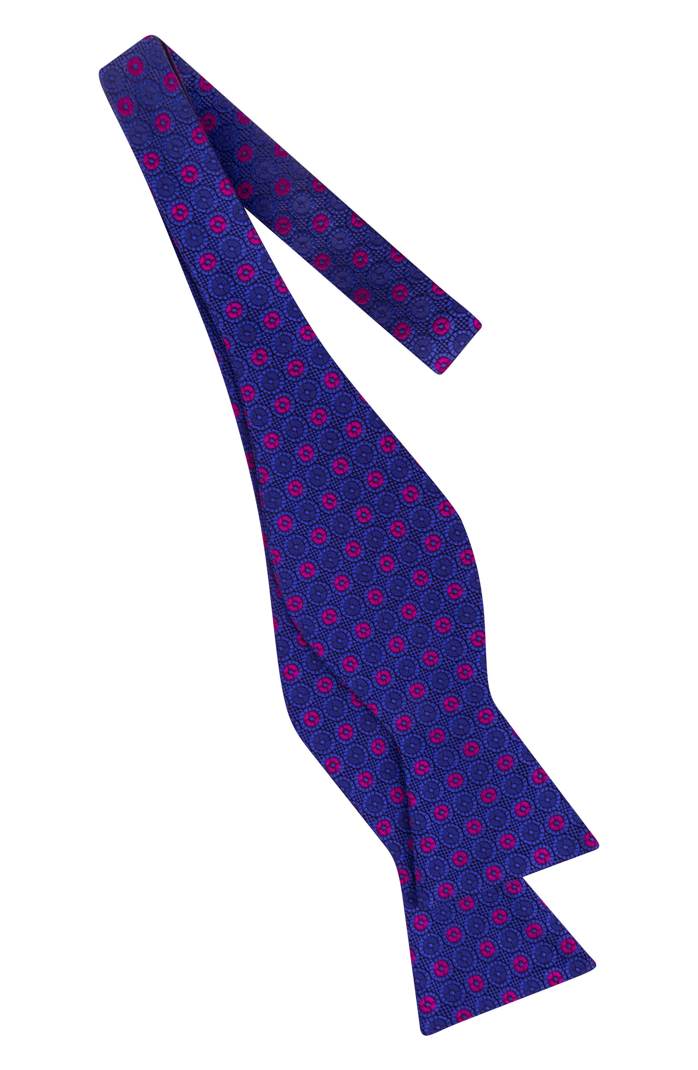 Medallion Silk Bow Tie,                             Alternate thumbnail 2, color,                             405