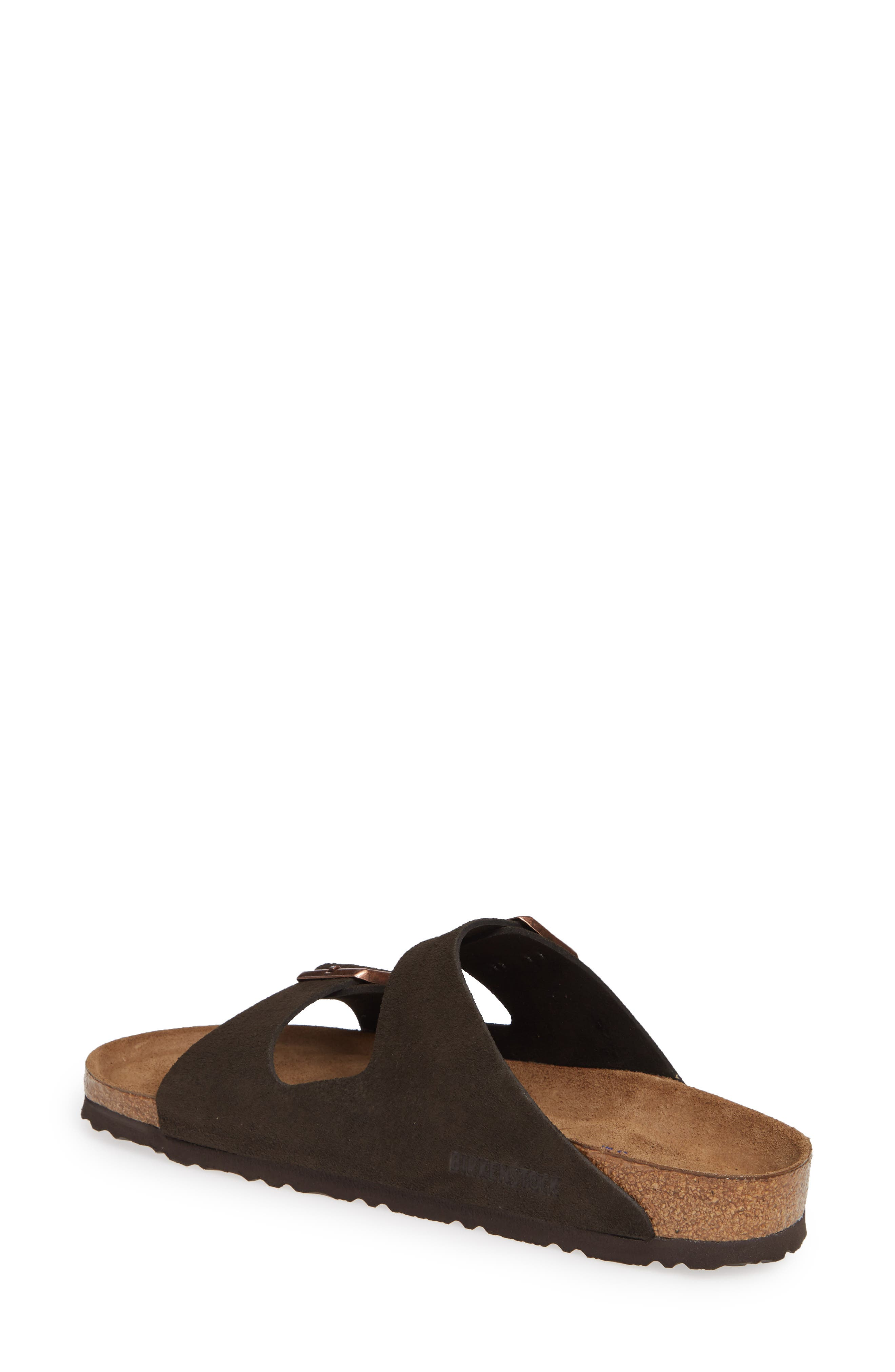'Arizona' Soft Footbed Suede Sandal,                             Alternate thumbnail 2, color,                             MOCHA SUEDE