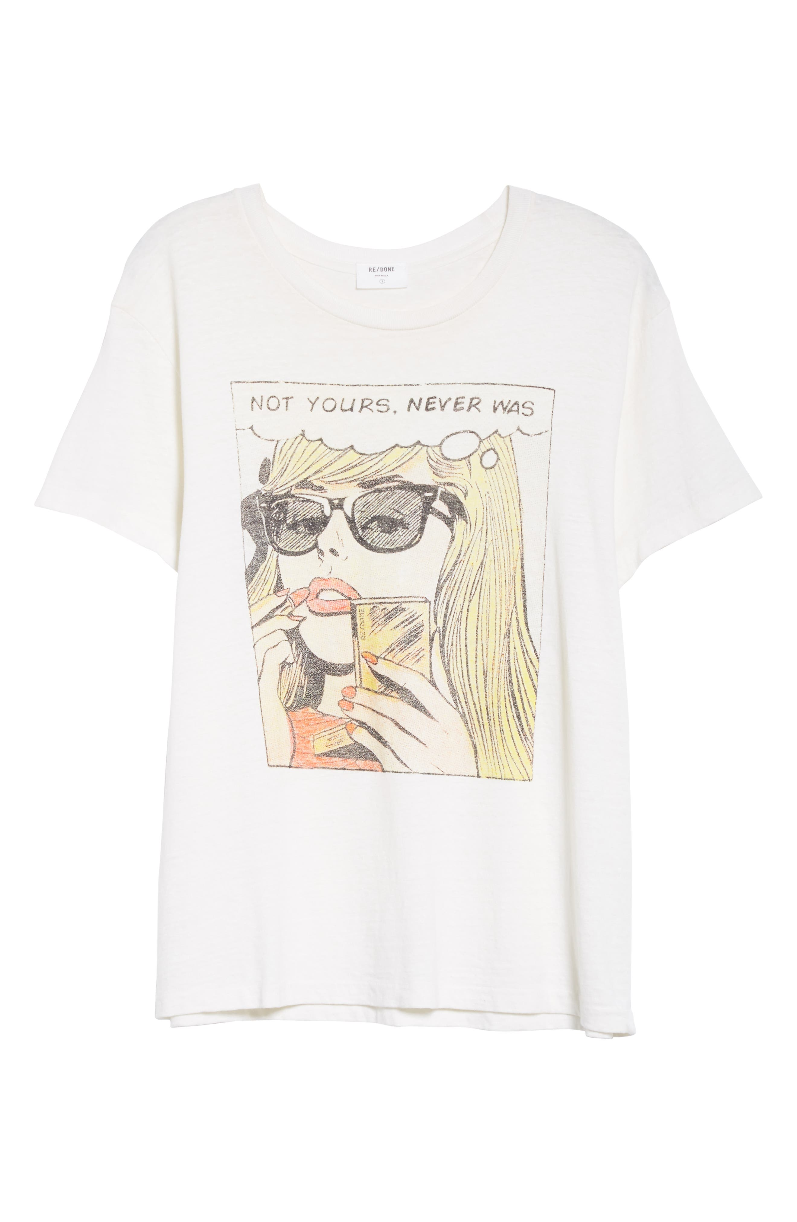 Not Yours Girlfriend Tee,                             Alternate thumbnail 6, color,                             VINTAGE WHITE