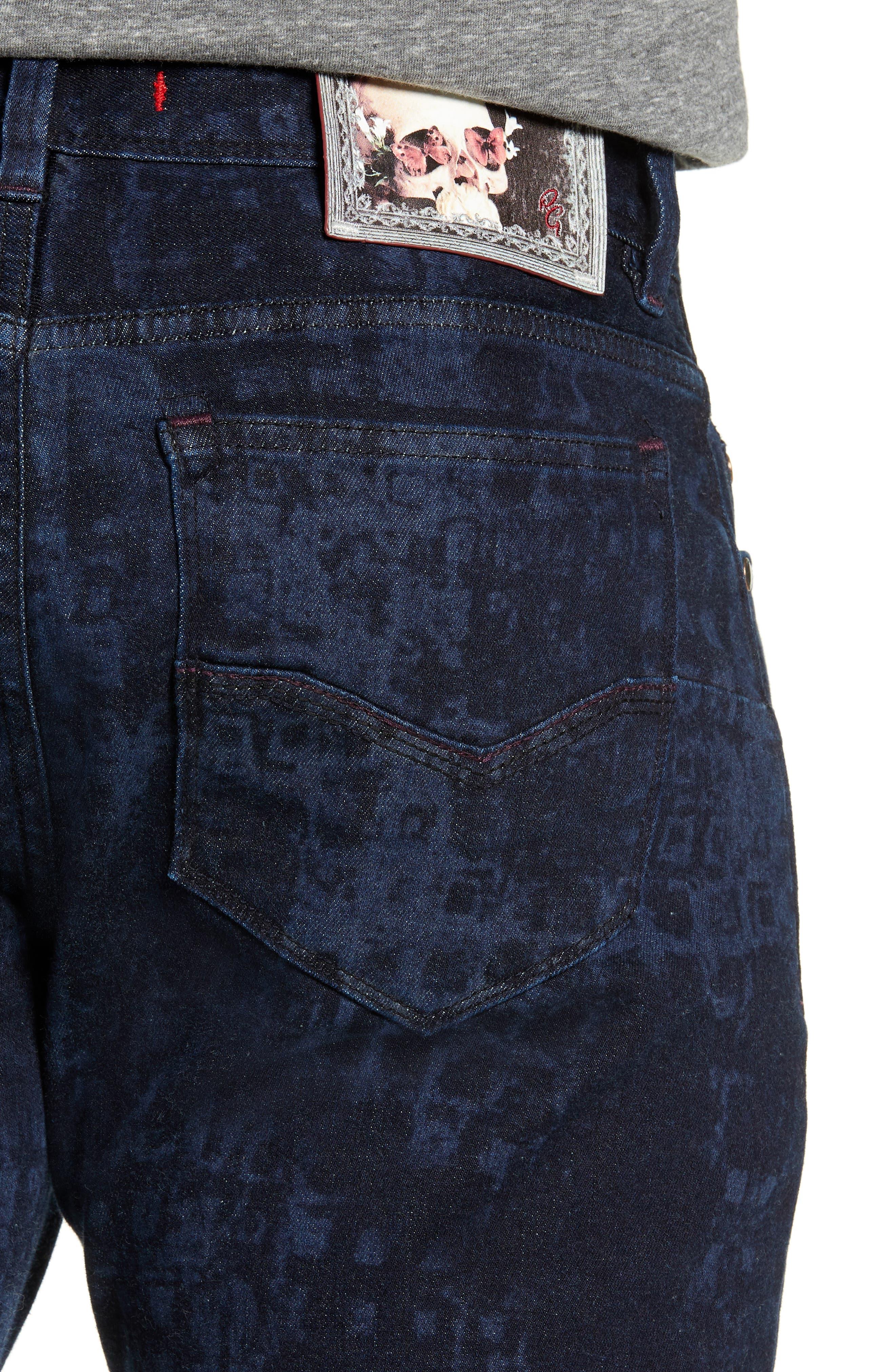 Chilcott Classic Fit Jeans,                             Alternate thumbnail 4, color,                             INDIGO
