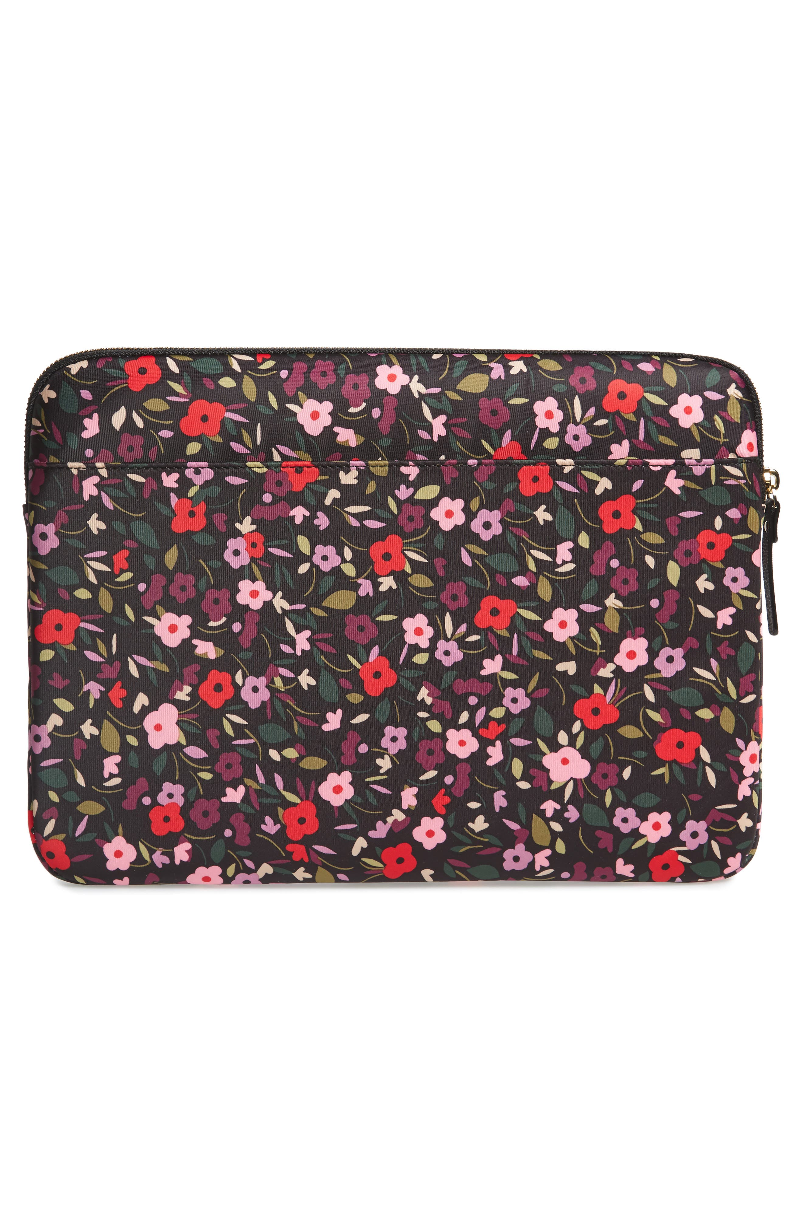 boho floral 13-inch laptop sleeve,                             Alternate thumbnail 4, color,                             002