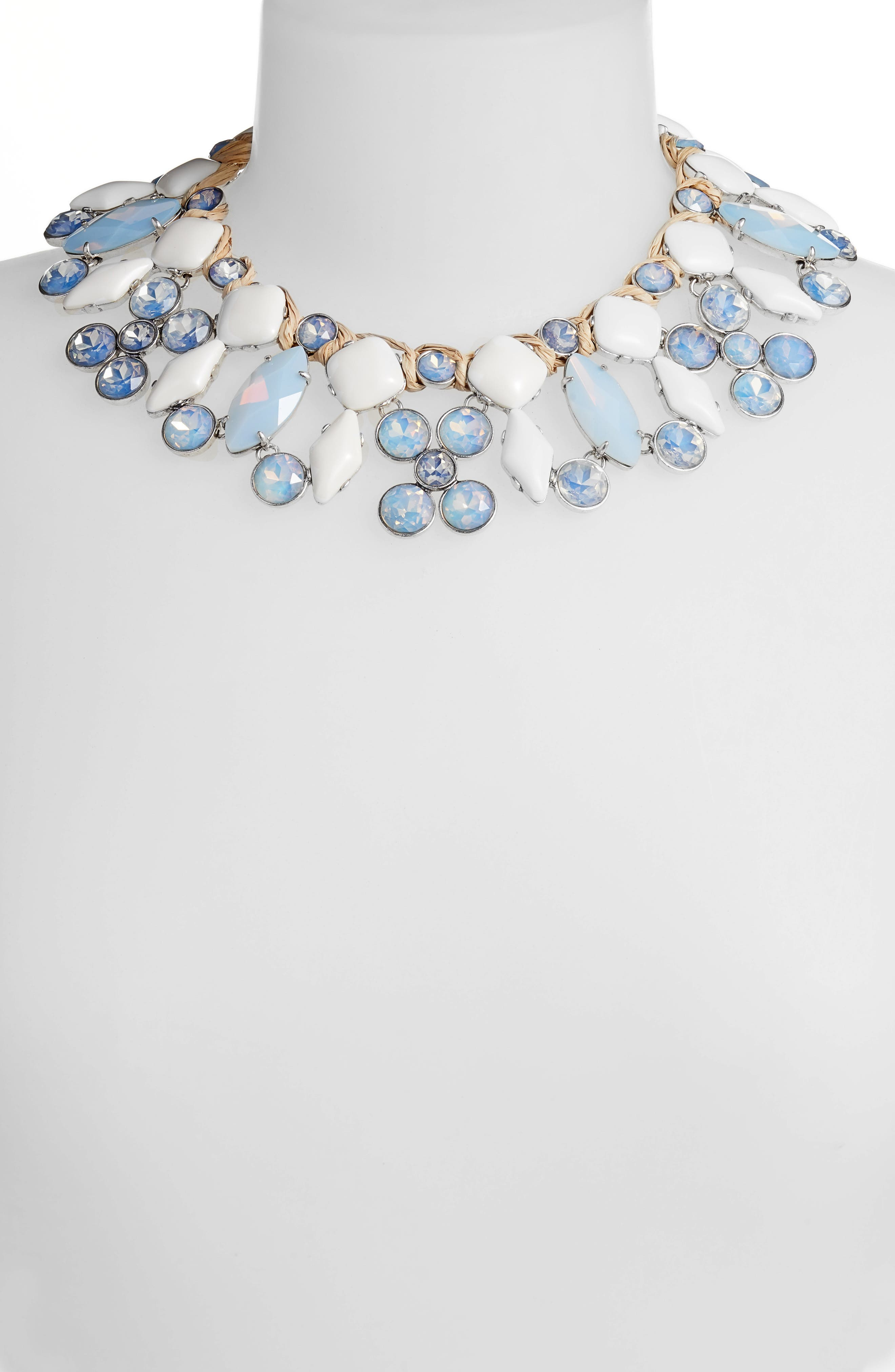 Moonstone Collar Necklace,                             Alternate thumbnail 2, color,                             MOONSTONE