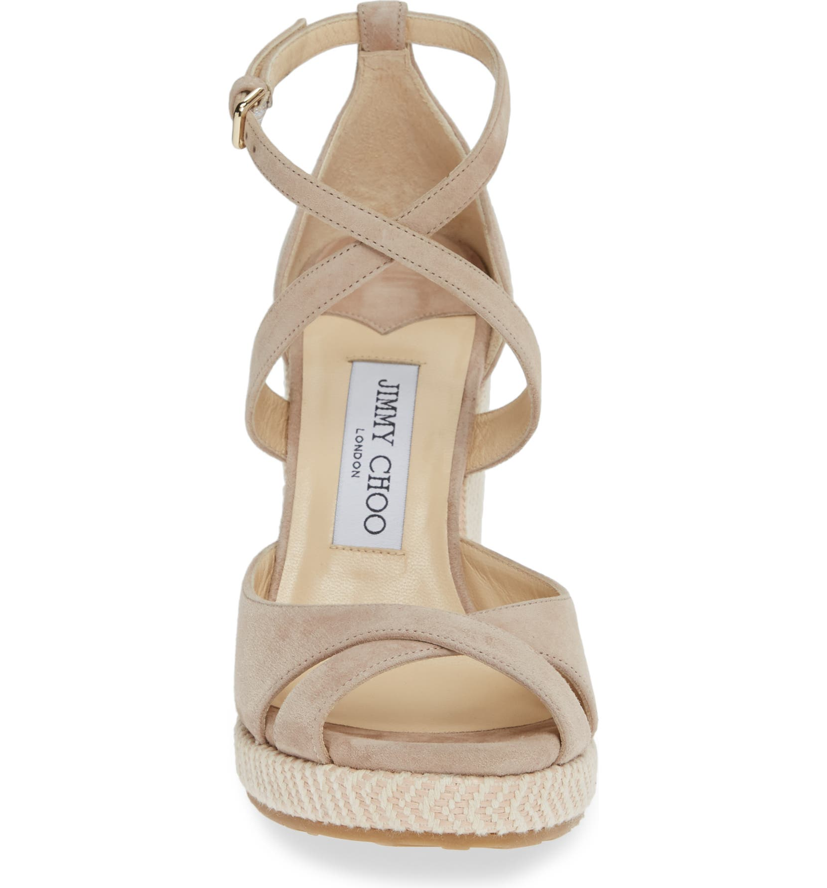 cfe22845bf47 Jimmy Choo Alanah Strappy Wedge Sandal (Women)