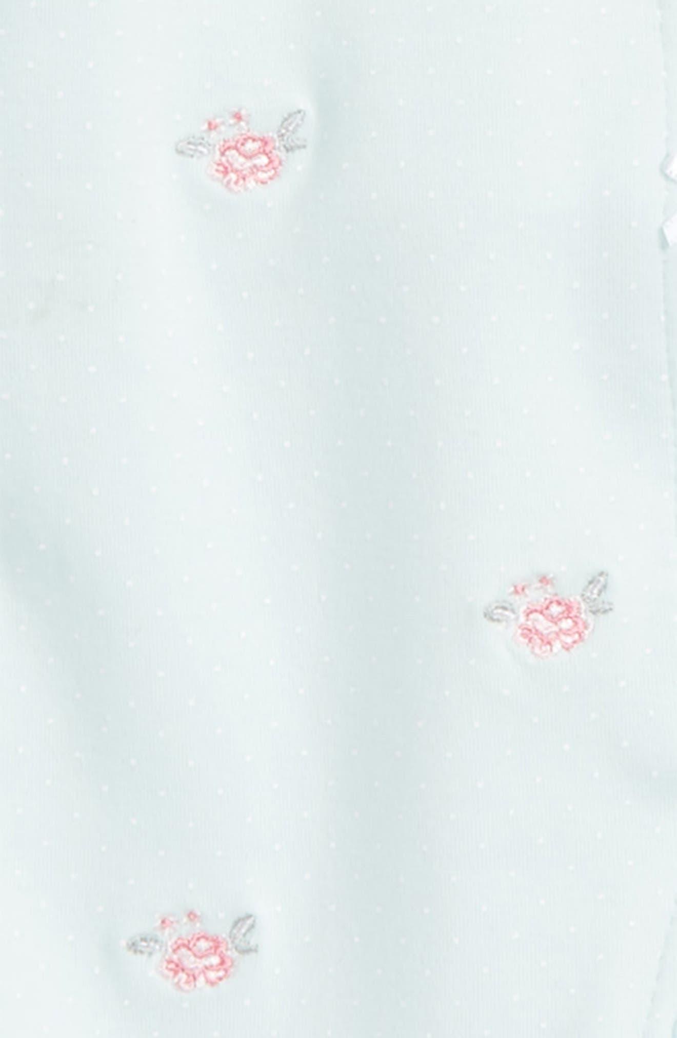 Flower Dot Footie & Hat Set,                             Alternate thumbnail 2, color,                             334