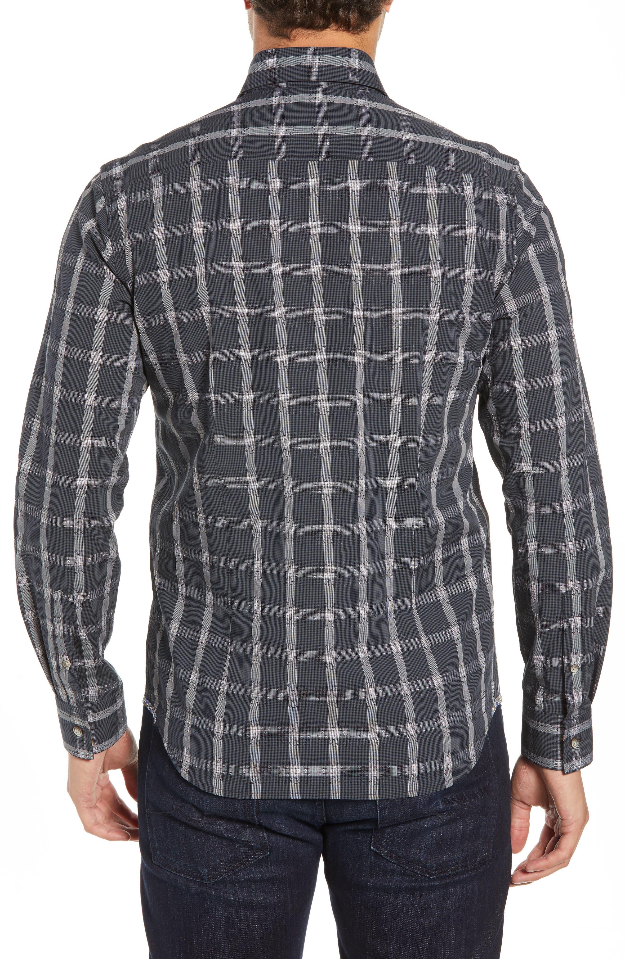 Jenson Tailored Fit Sport Shirt,                             Alternate thumbnail 3, color,                             BLACK