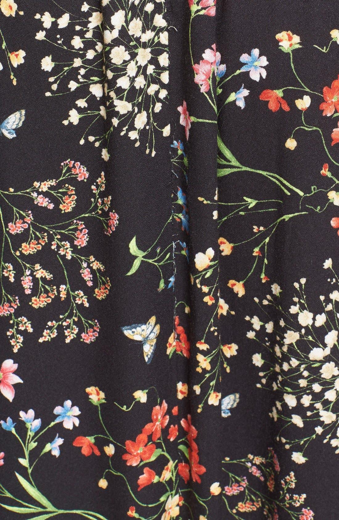 'Cheri' Floral Print Off the Shoulder Maxi Dress,                             Alternate thumbnail 5, color,                             002