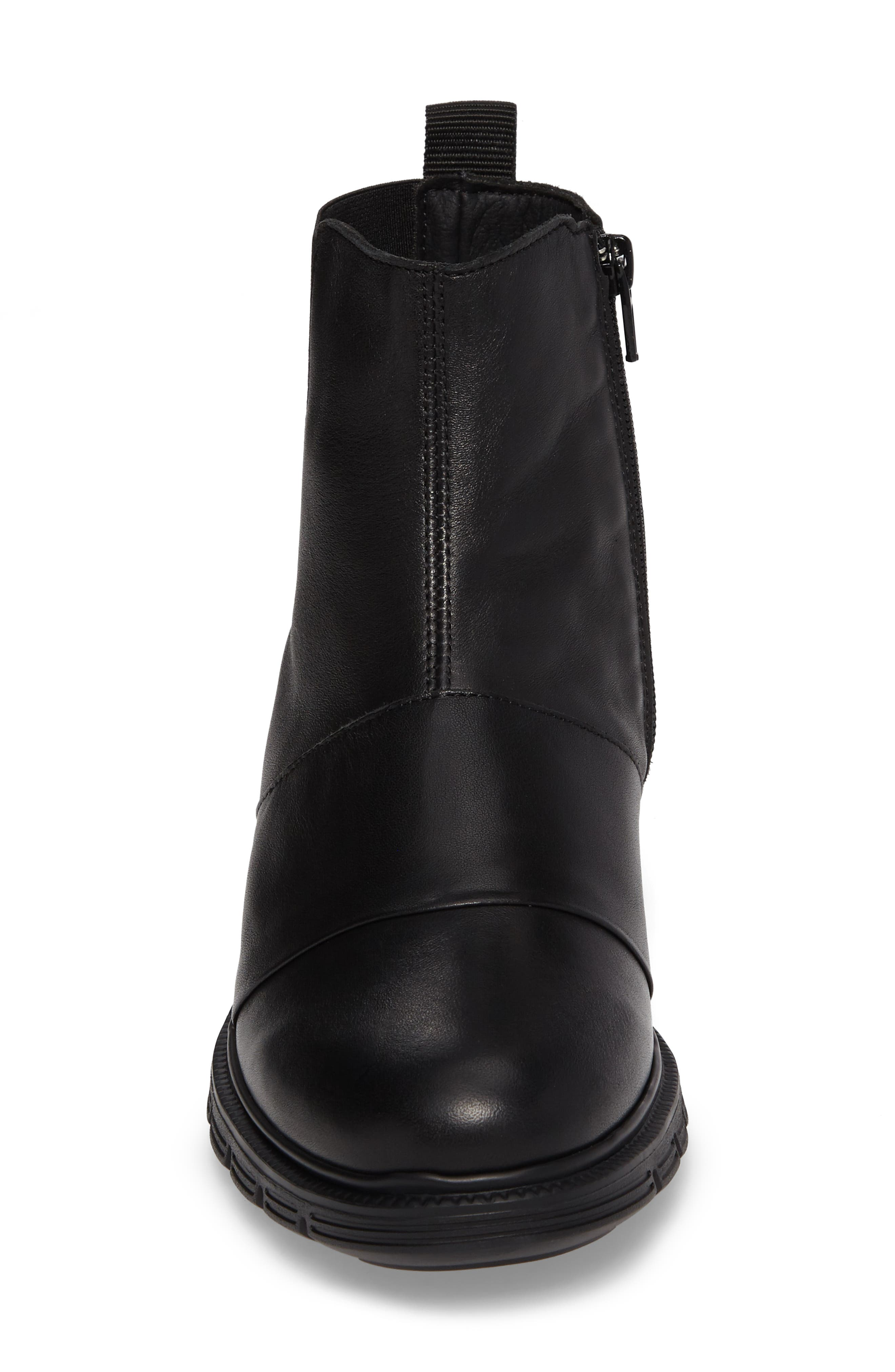 Gish Water-Resistant Bootie,                             Alternate thumbnail 4, color,                             BLACK LEATHER