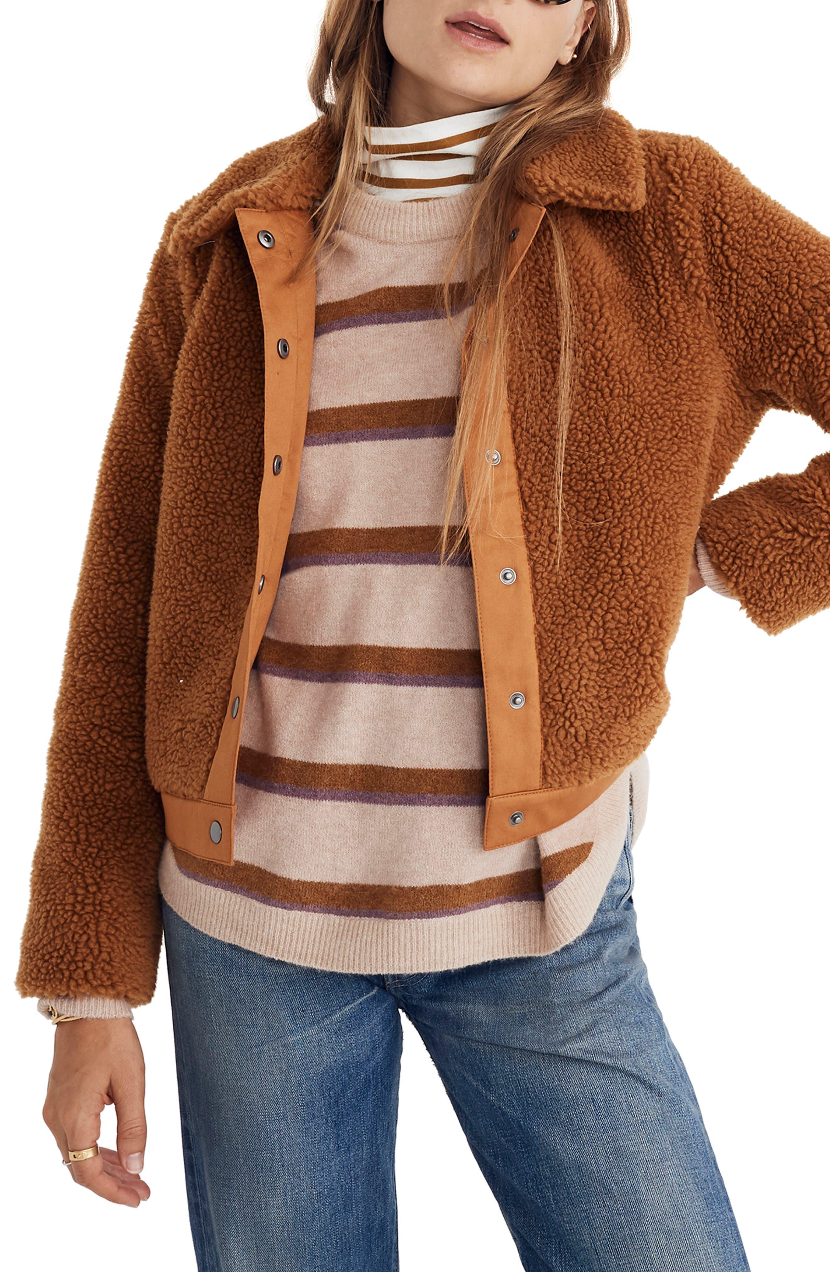 Portland Fleece Jacket,                         Main,                         color, GOLDEN PECAN