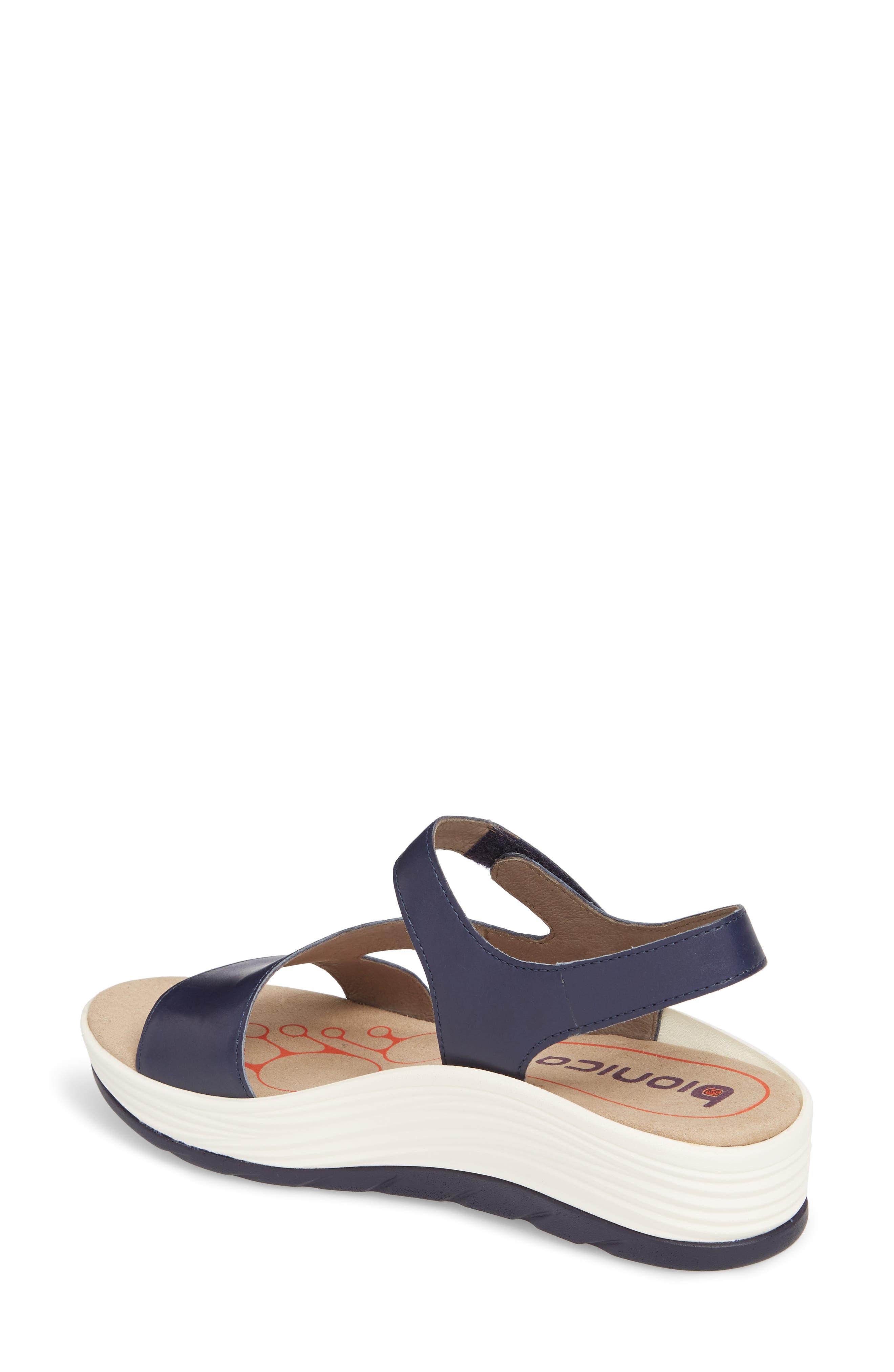 Cybele Platform Sandal,                             Alternate thumbnail 2, color,                             PEACOAT NAVY LEATHER