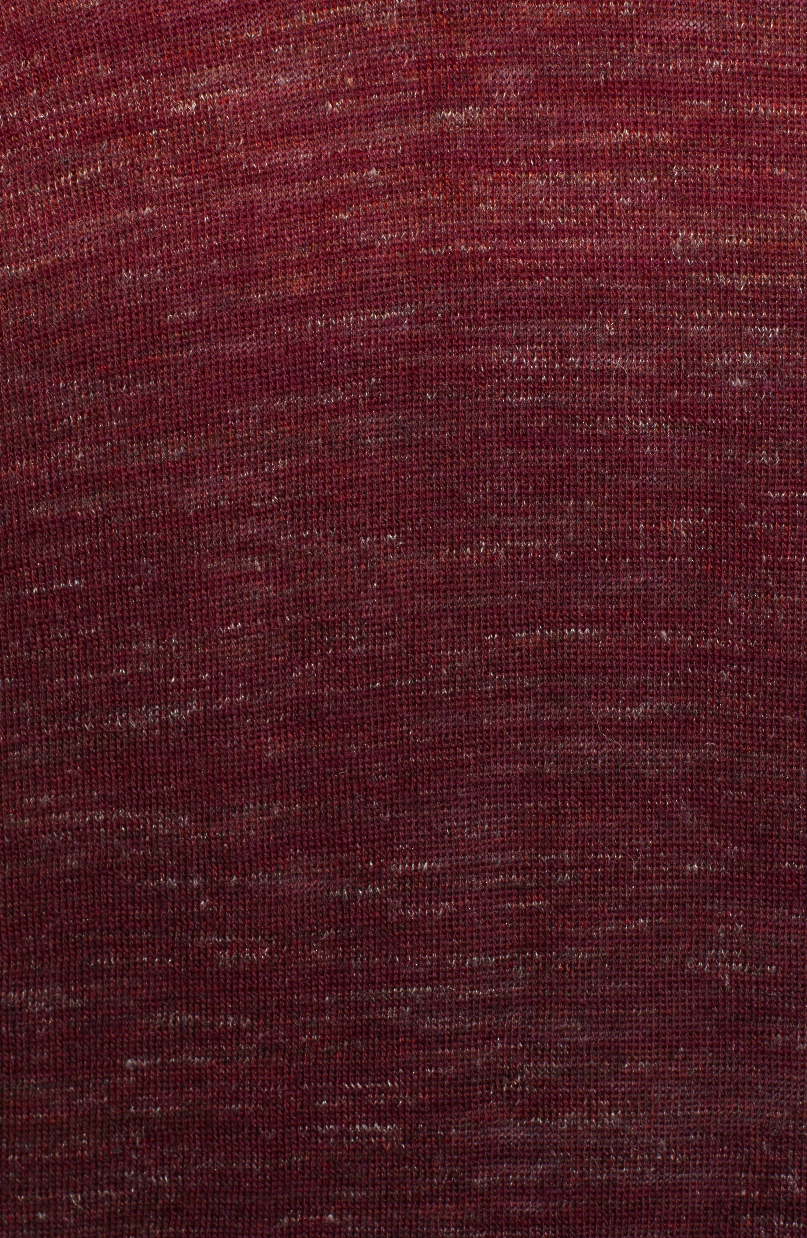 Quarter Zip Pullover,                             Alternate thumbnail 5, color,                             WINE