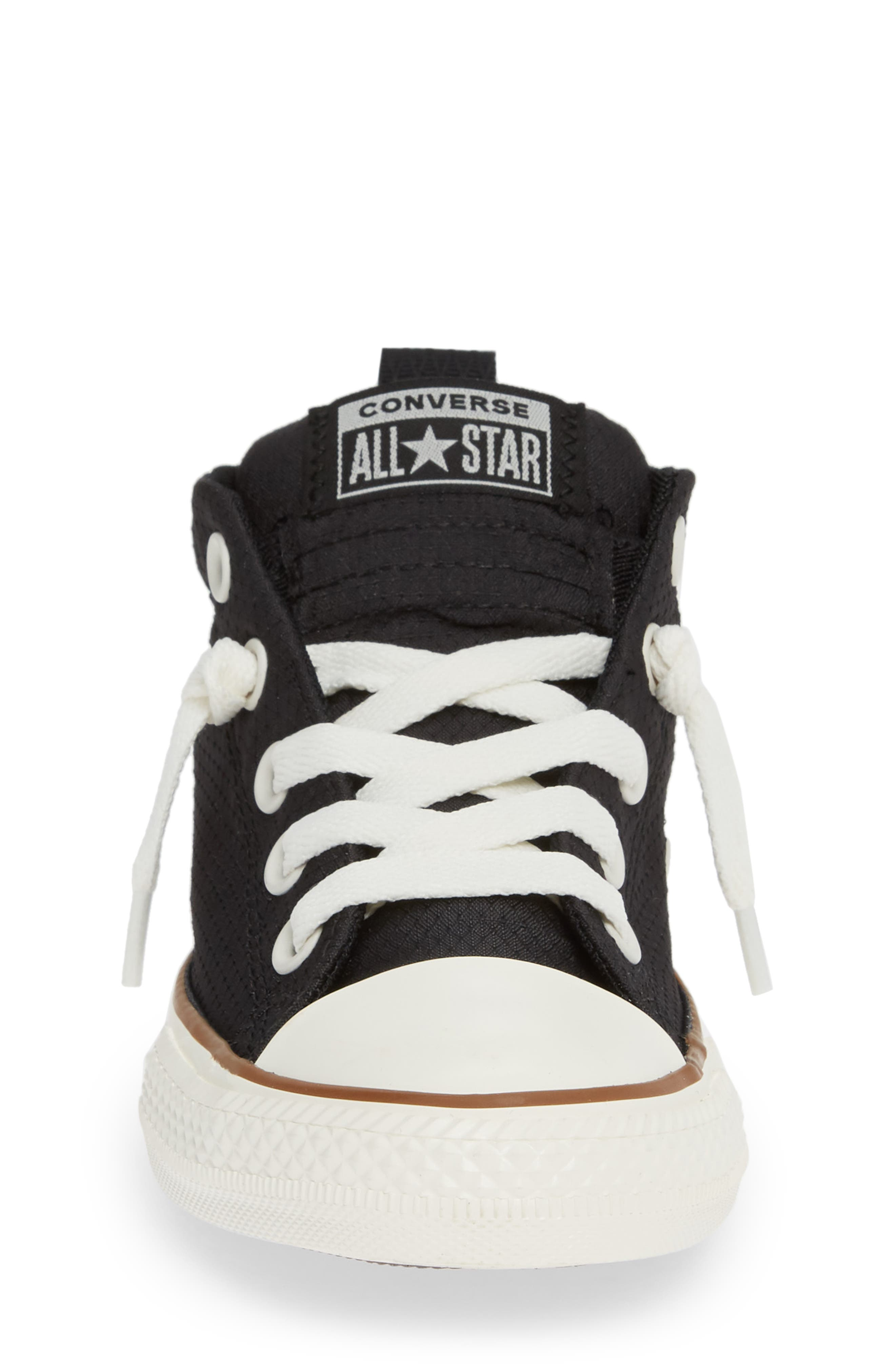 Chuck Taylor<sup>®</sup> All Star<sup>®</sup> Street Mid Top Sneaker,                             Alternate thumbnail 4, color,                             BLACK/ GUM/ EGRET
