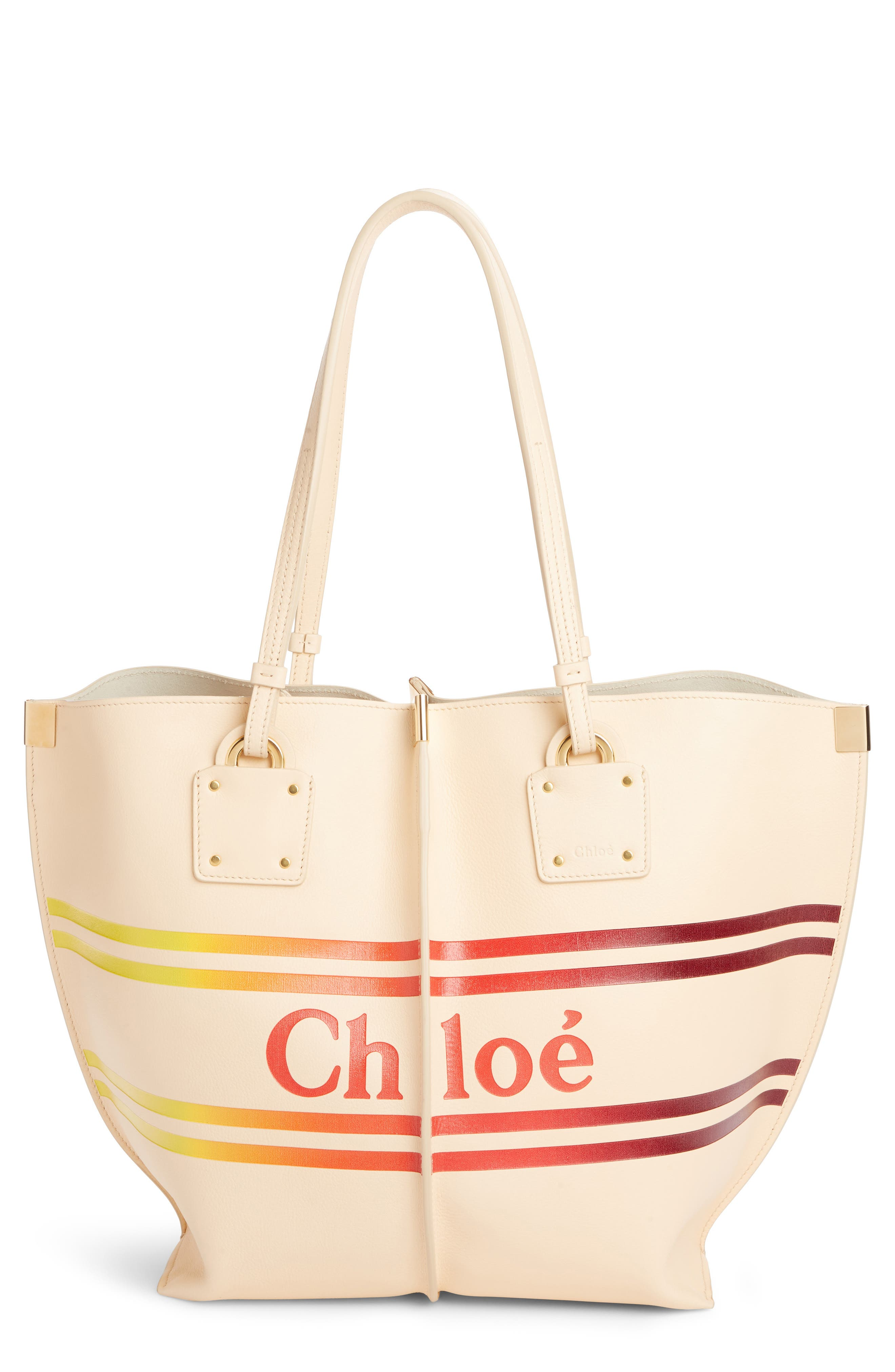 Vick Leather Tote,                             Main thumbnail 1, color,                             BLONDIE BEIGE