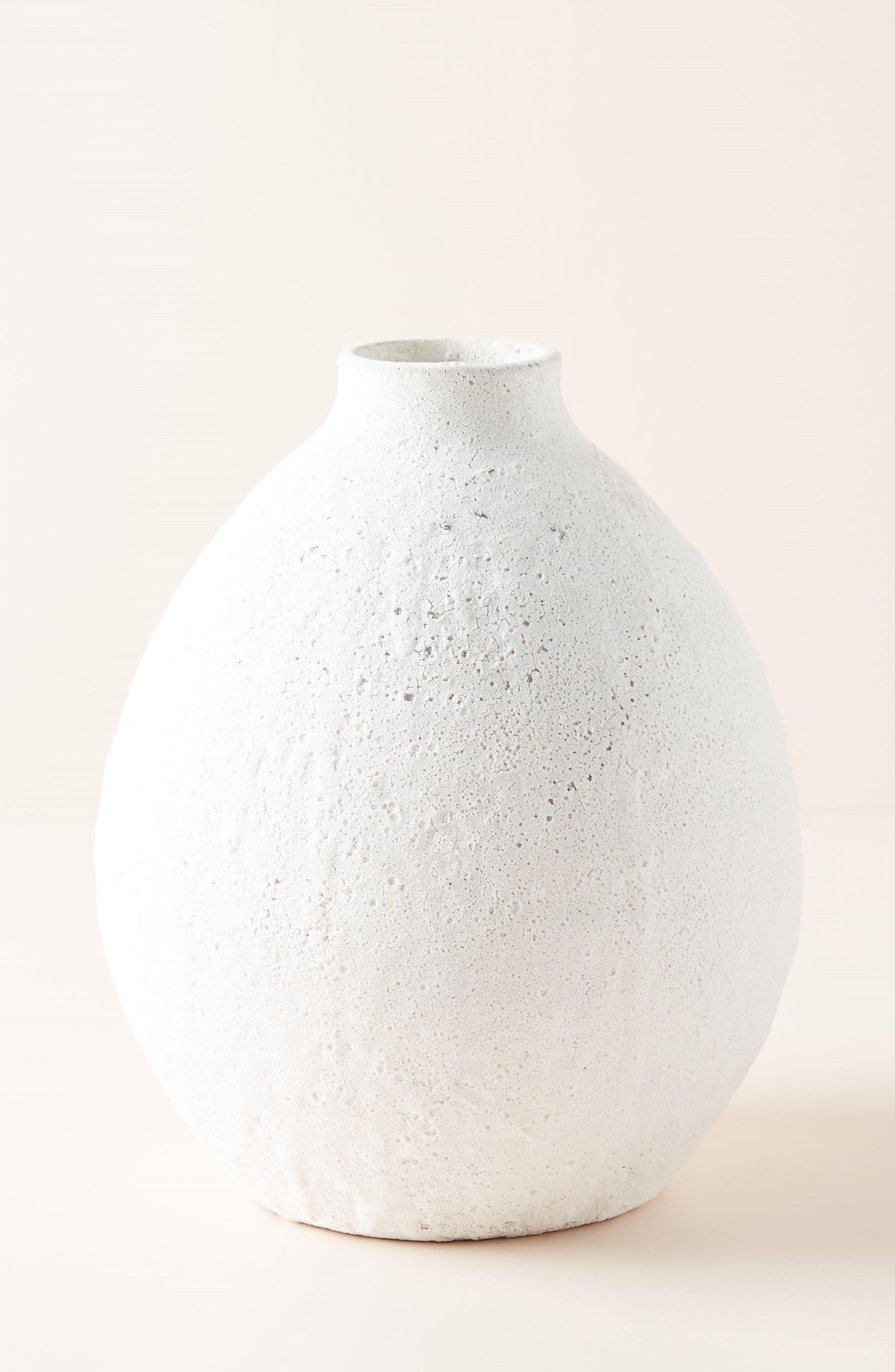 ANTHROPOLOGIE,                             Large Lark Vase,                             Main thumbnail 1, color,                             WHITE