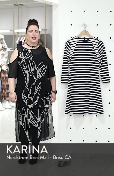 365 Stripe Knit Fit & Flare Dress, sales video thumbnail