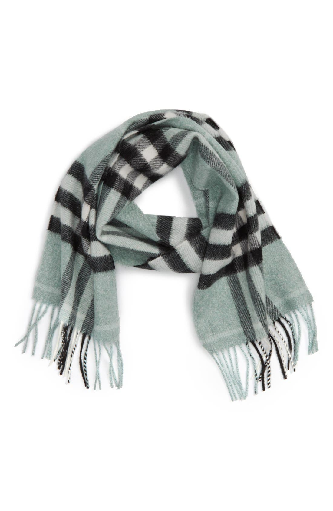'Exploded Check' Cashmere Scarf,                         Main,                         color, 334