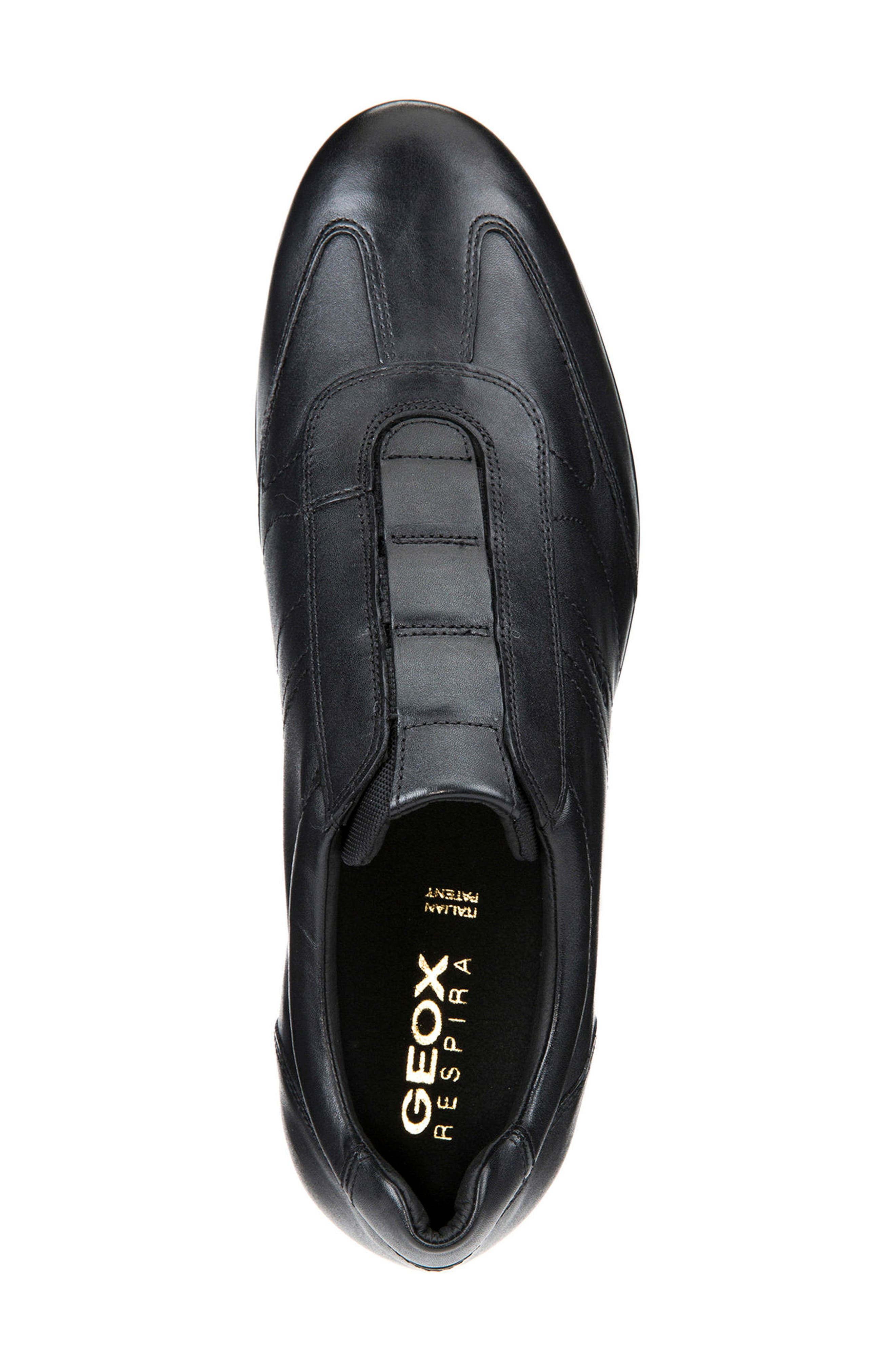 Symbol 21 Slip-On Sneaker,                             Alternate thumbnail 4, color,                             BLACK LEATHER
