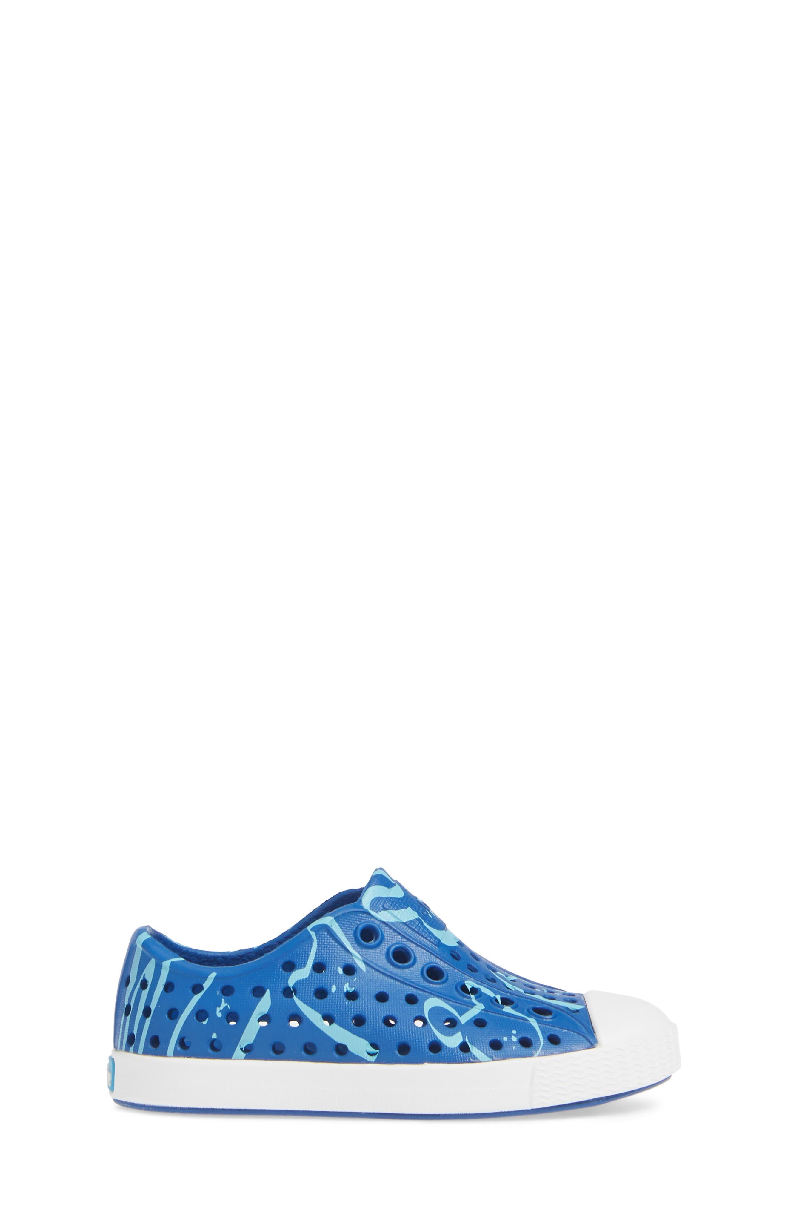 Jefferson Water Friendly Slip-On Shoe,                             Alternate thumbnail 3, color,                             VICTORIA BLUE/ WHITE ANIMALIA