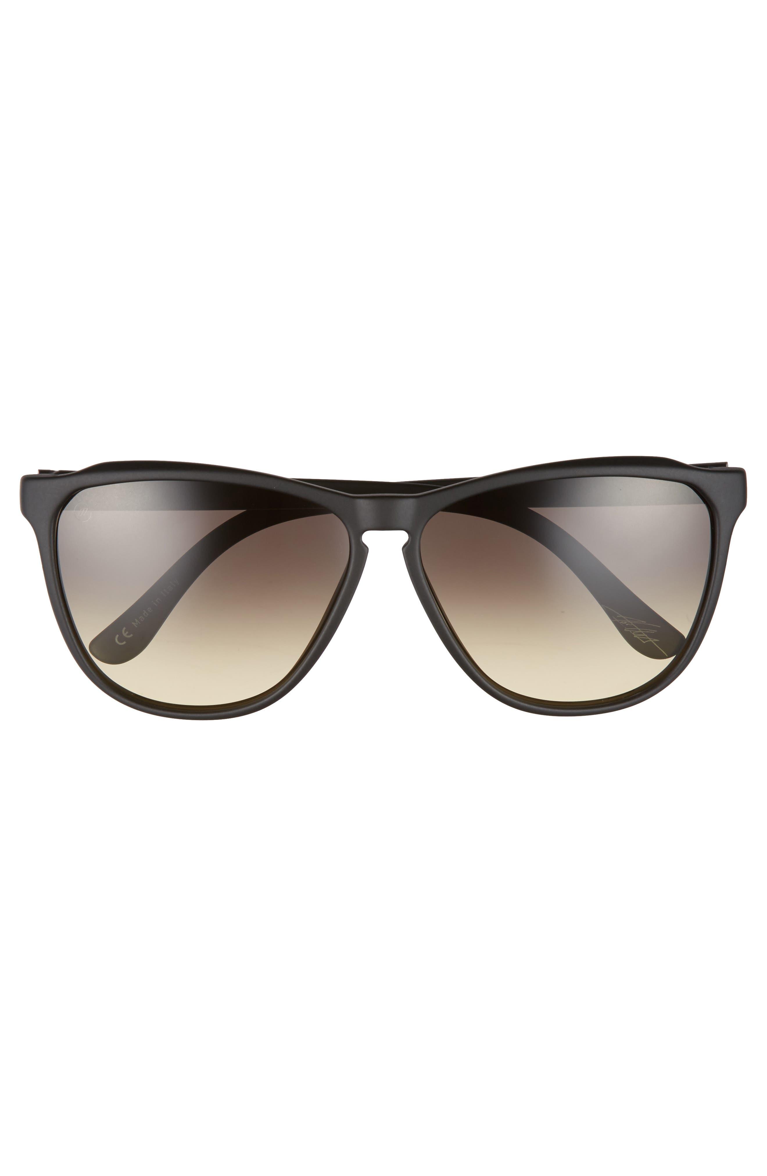 'Encelia' 66mm Retro Sunglasses,                             Alternate thumbnail 3, color,                             001