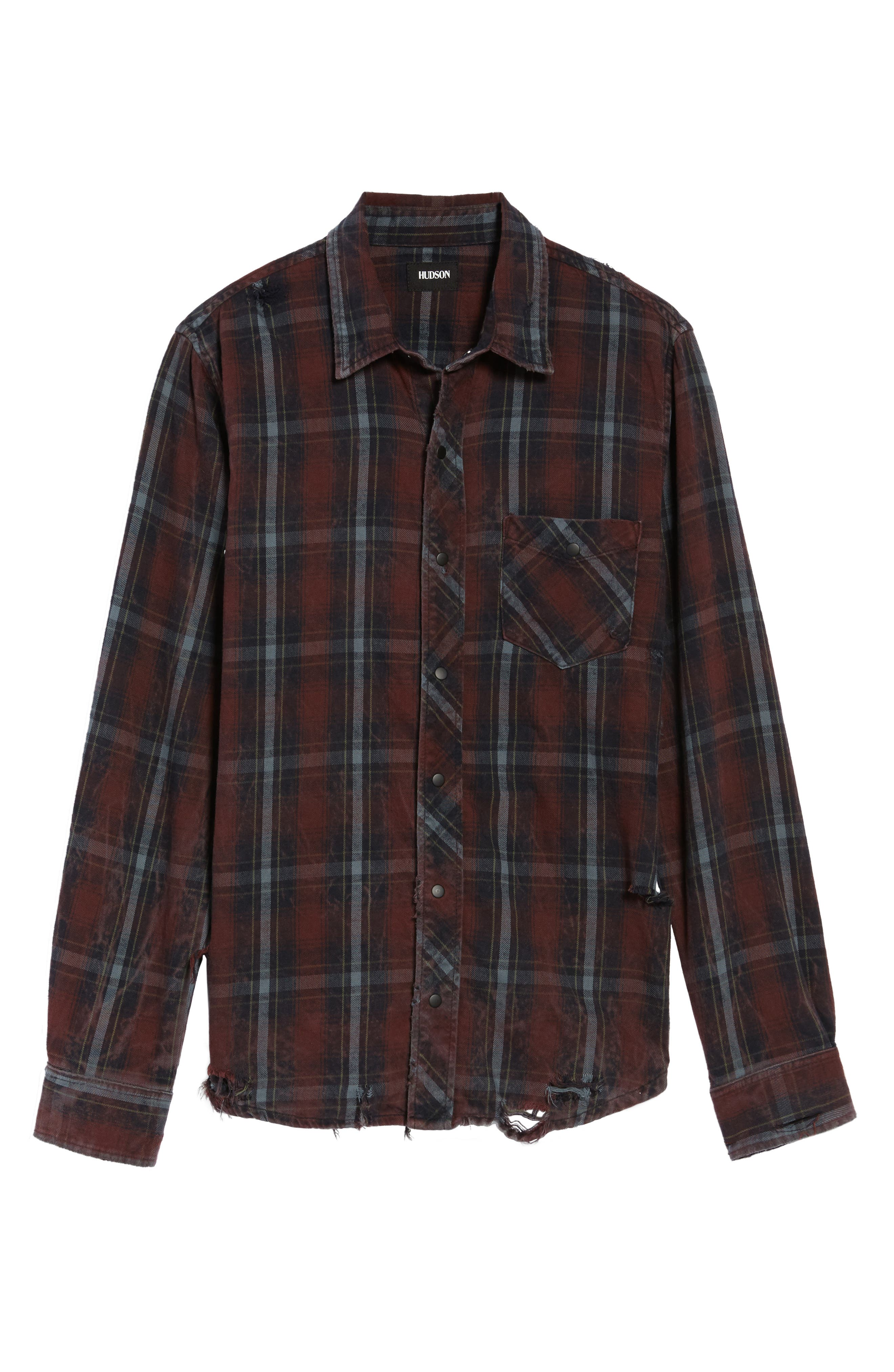 Slim Fit Plaid Sport Shirt,                             Alternate thumbnail 12, color,
