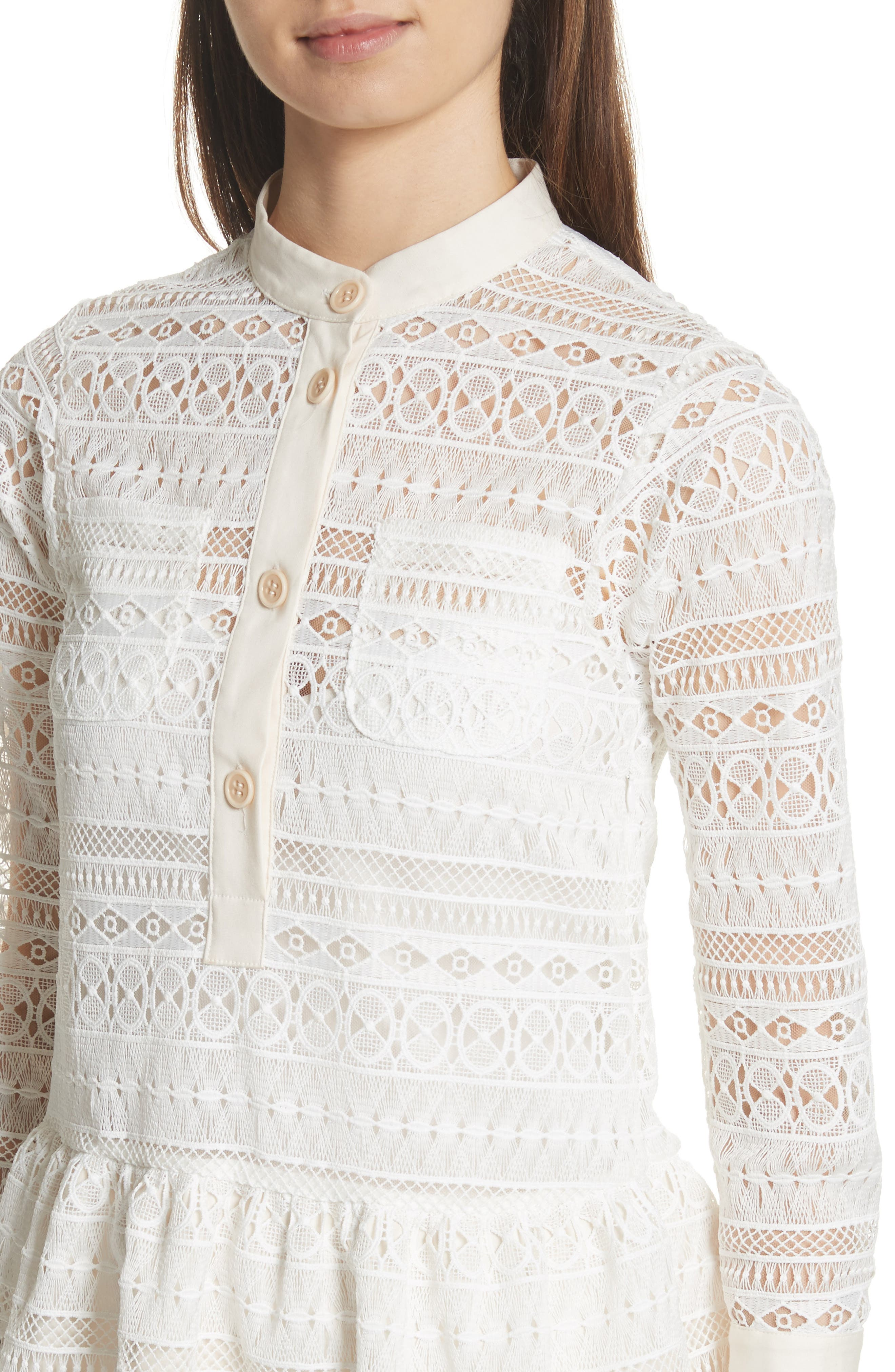 Lace Shirtdress,                             Alternate thumbnail 4, color,