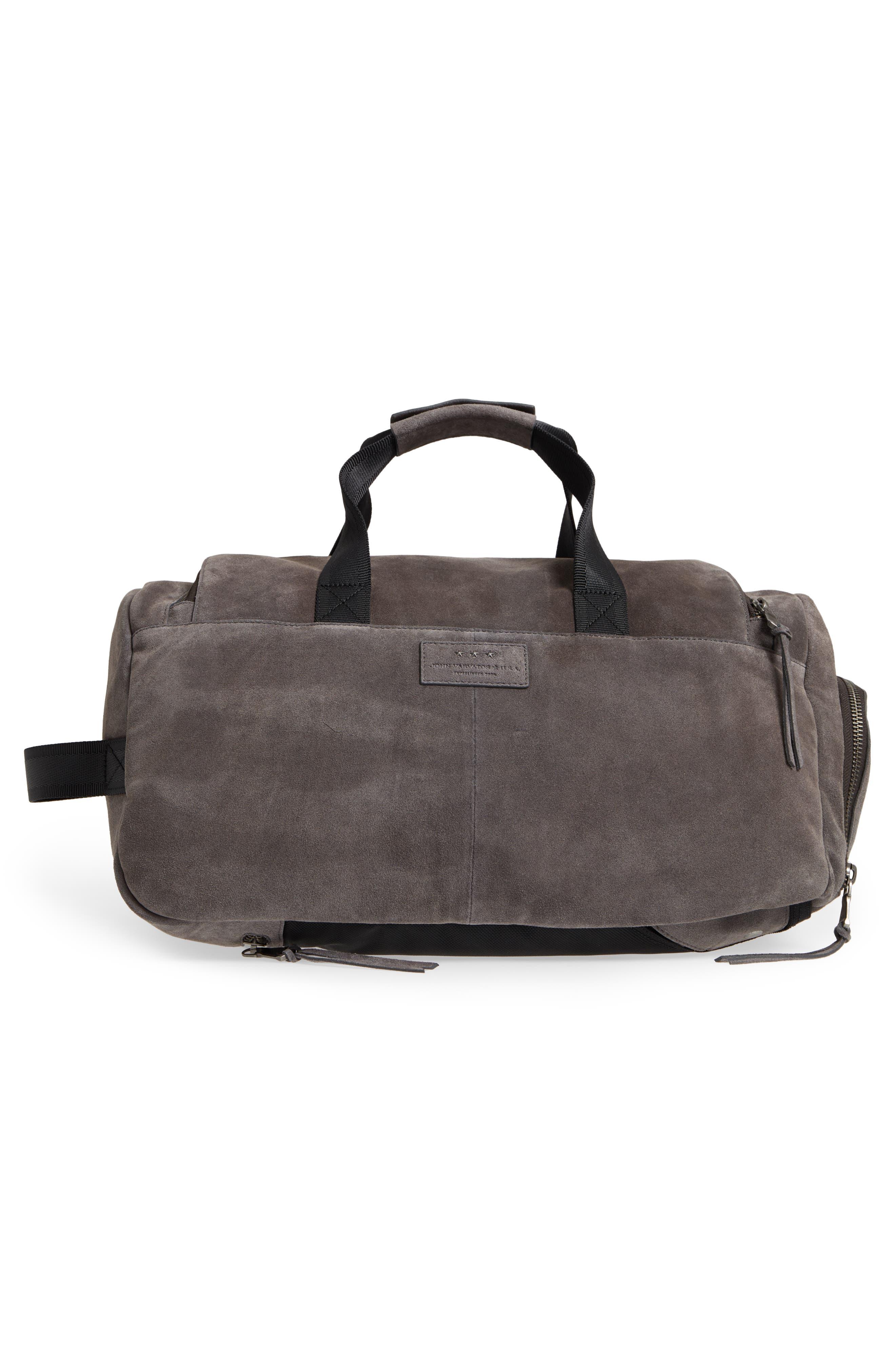 Brooklyn Suede Convertible Duffel Bag,                             Alternate thumbnail 7, color,